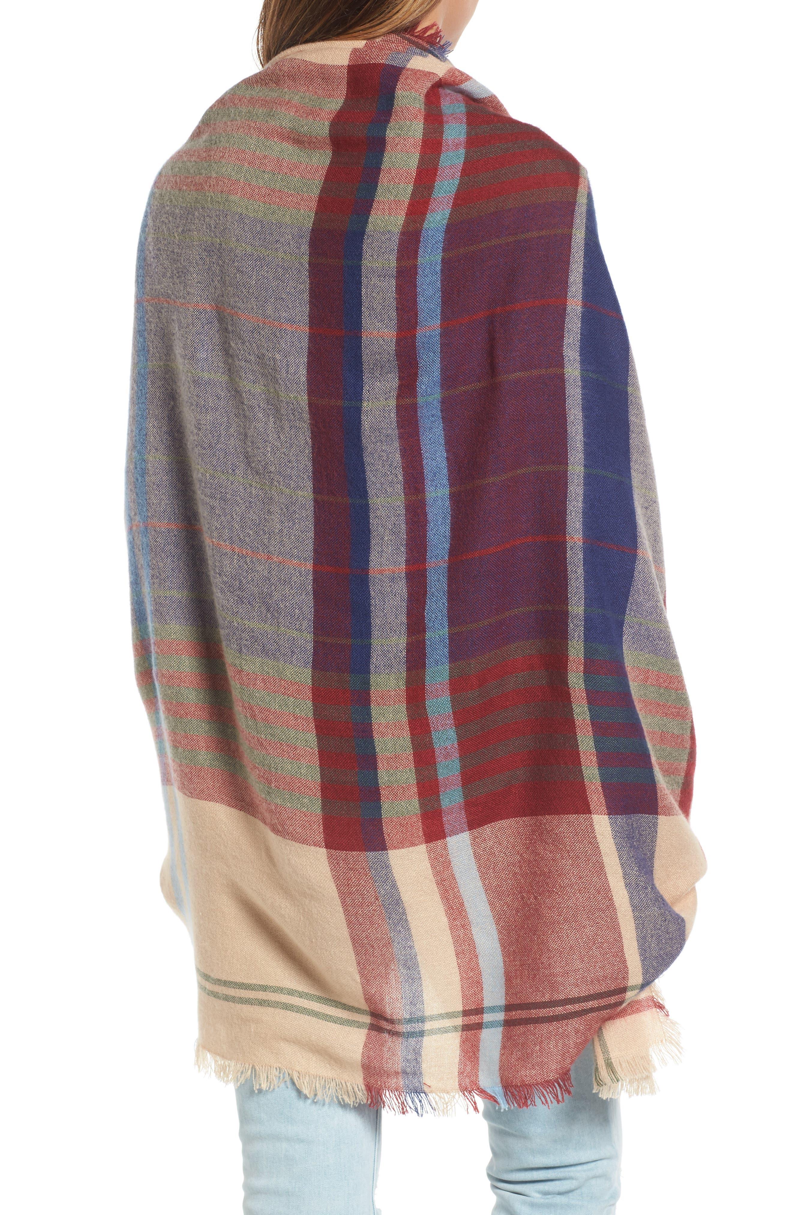 Alternate Image 3  - Treasure & Bond Heritage Plaid Blanket Wrap