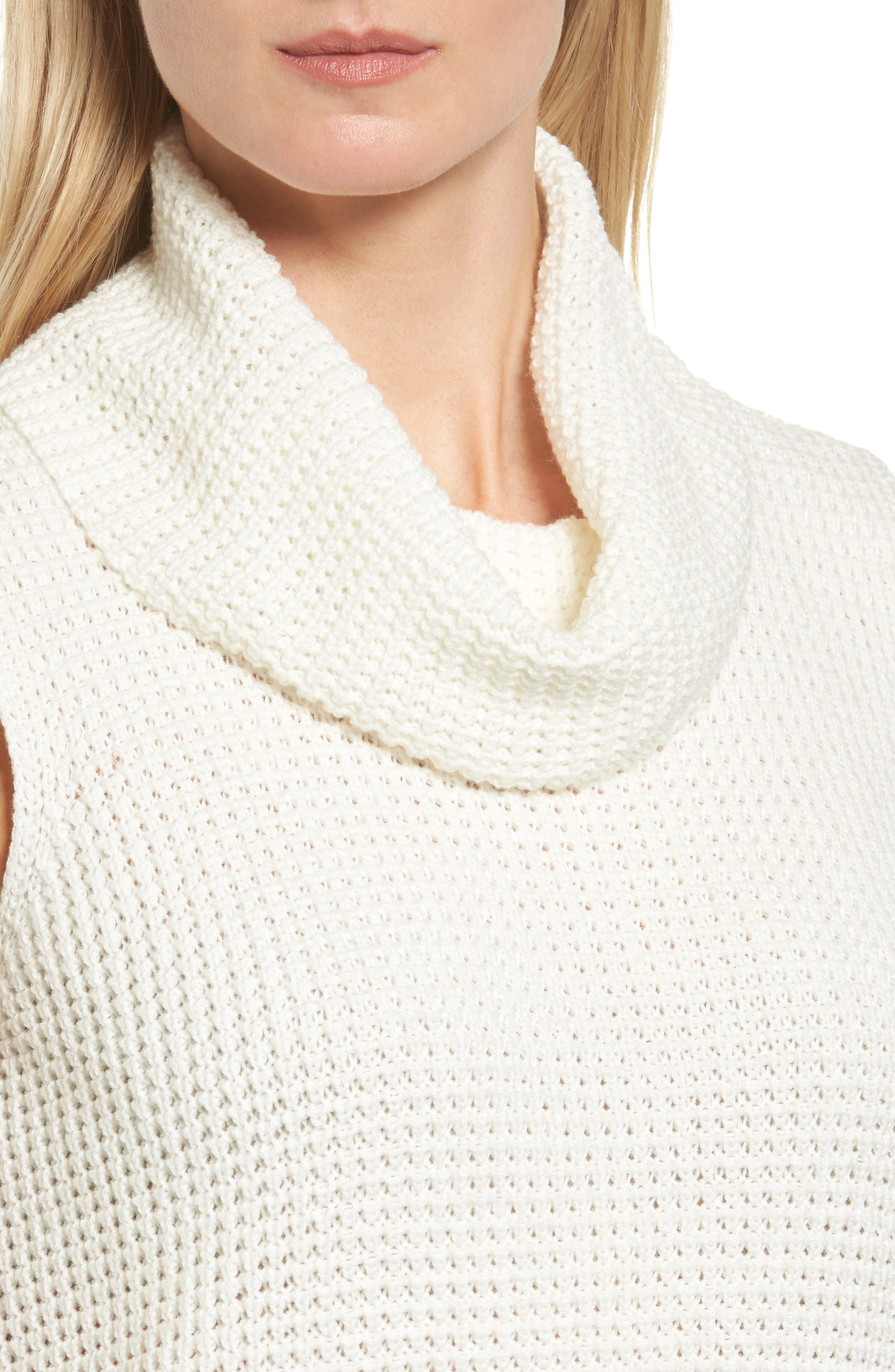Alternate Image 5  - Two by Vince Camuto Waffle Stitch Vest (Regular & Petite)
