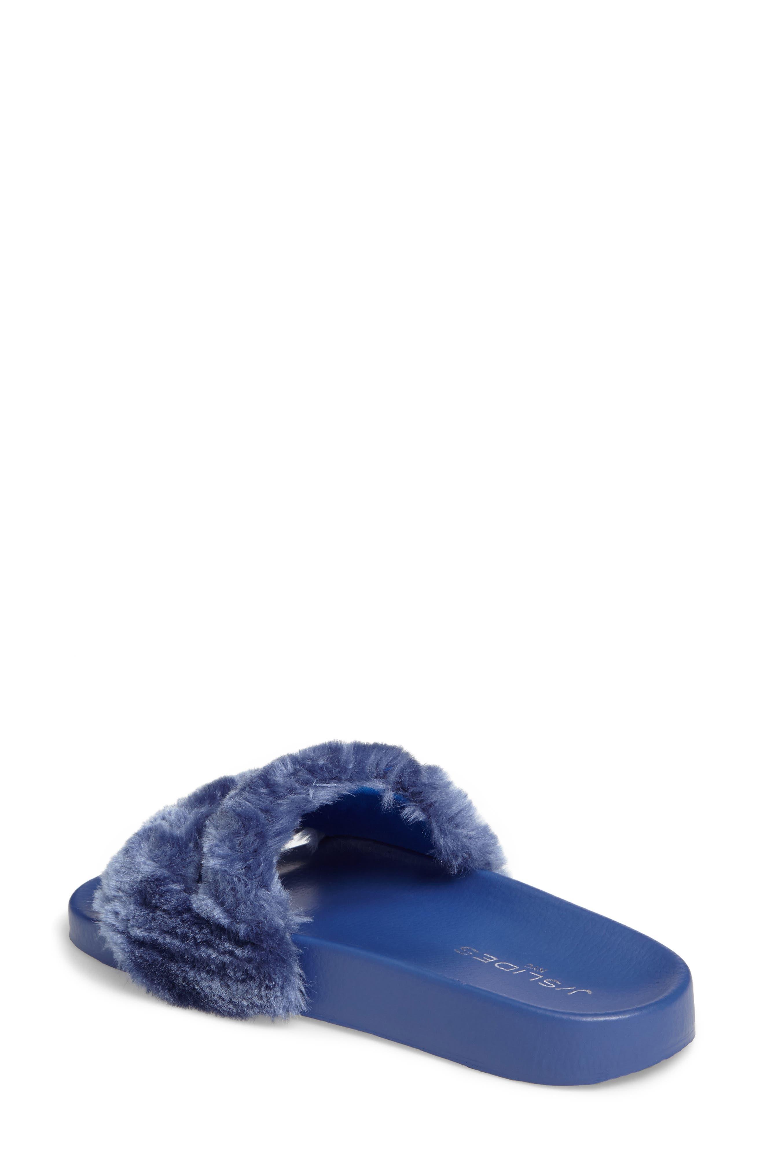 Alternate Image 2  - JSlides Samantha Faux Fur Slide (Women)