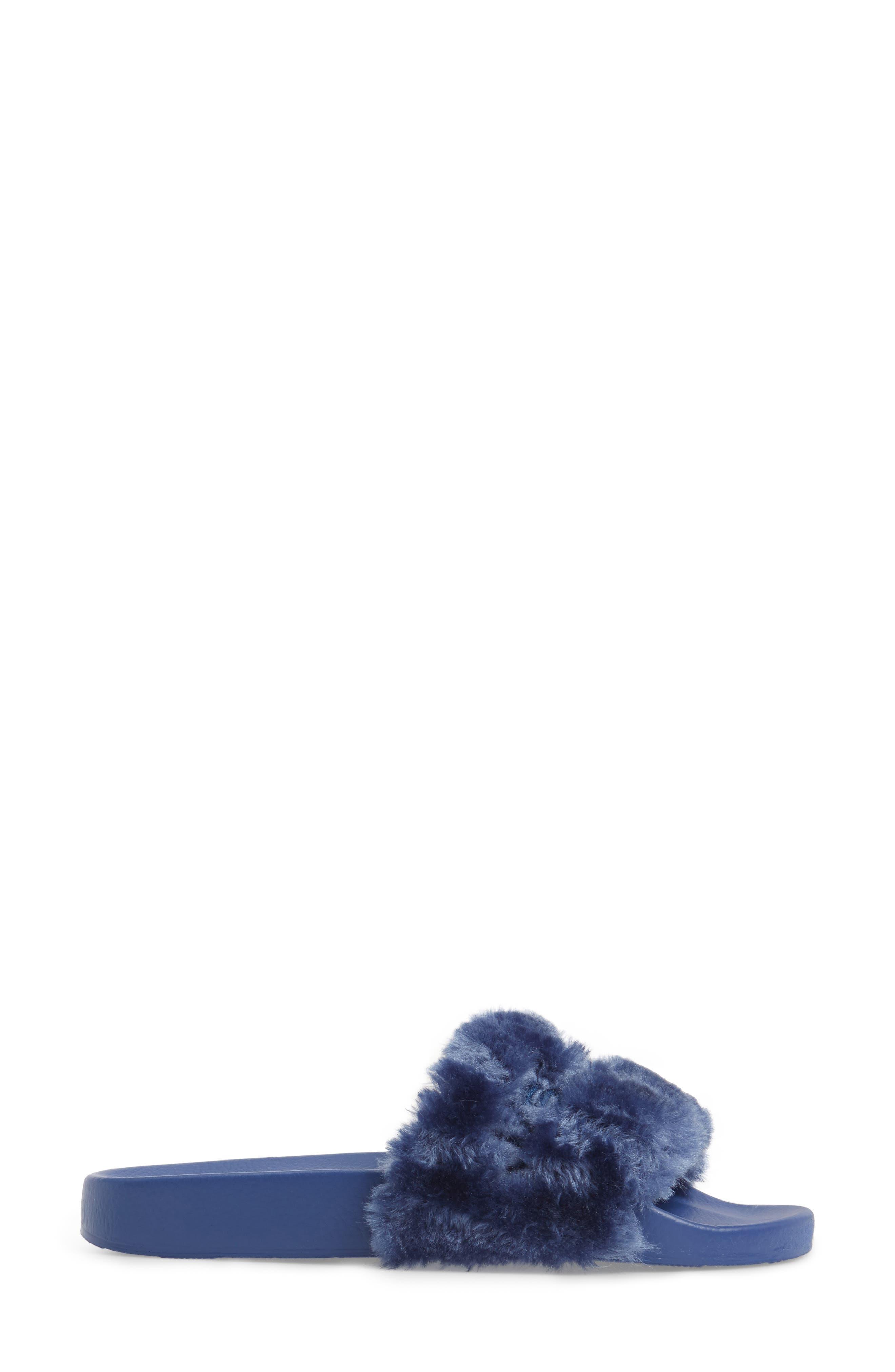 Alternate Image 3  - JSlides Samantha Faux Fur Slide (Women)