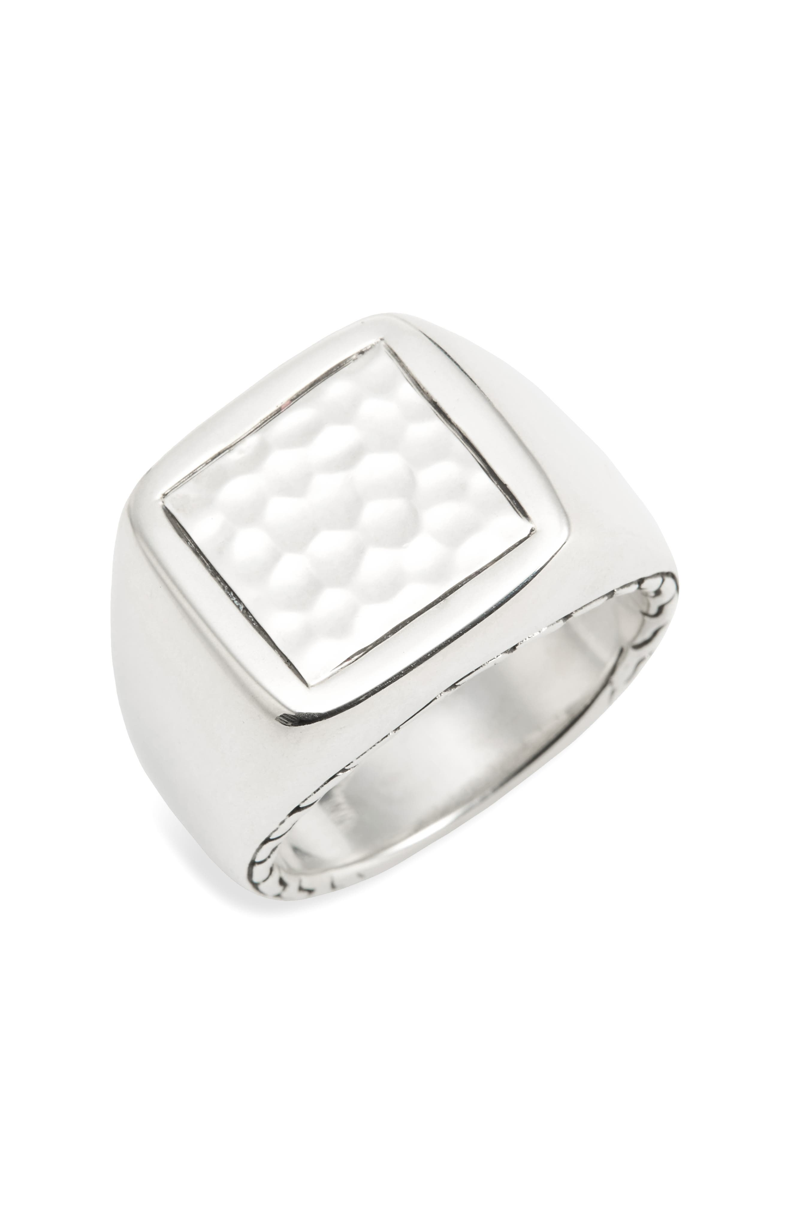 JOHN HARDY Classic Chain Hammered Signet Ring