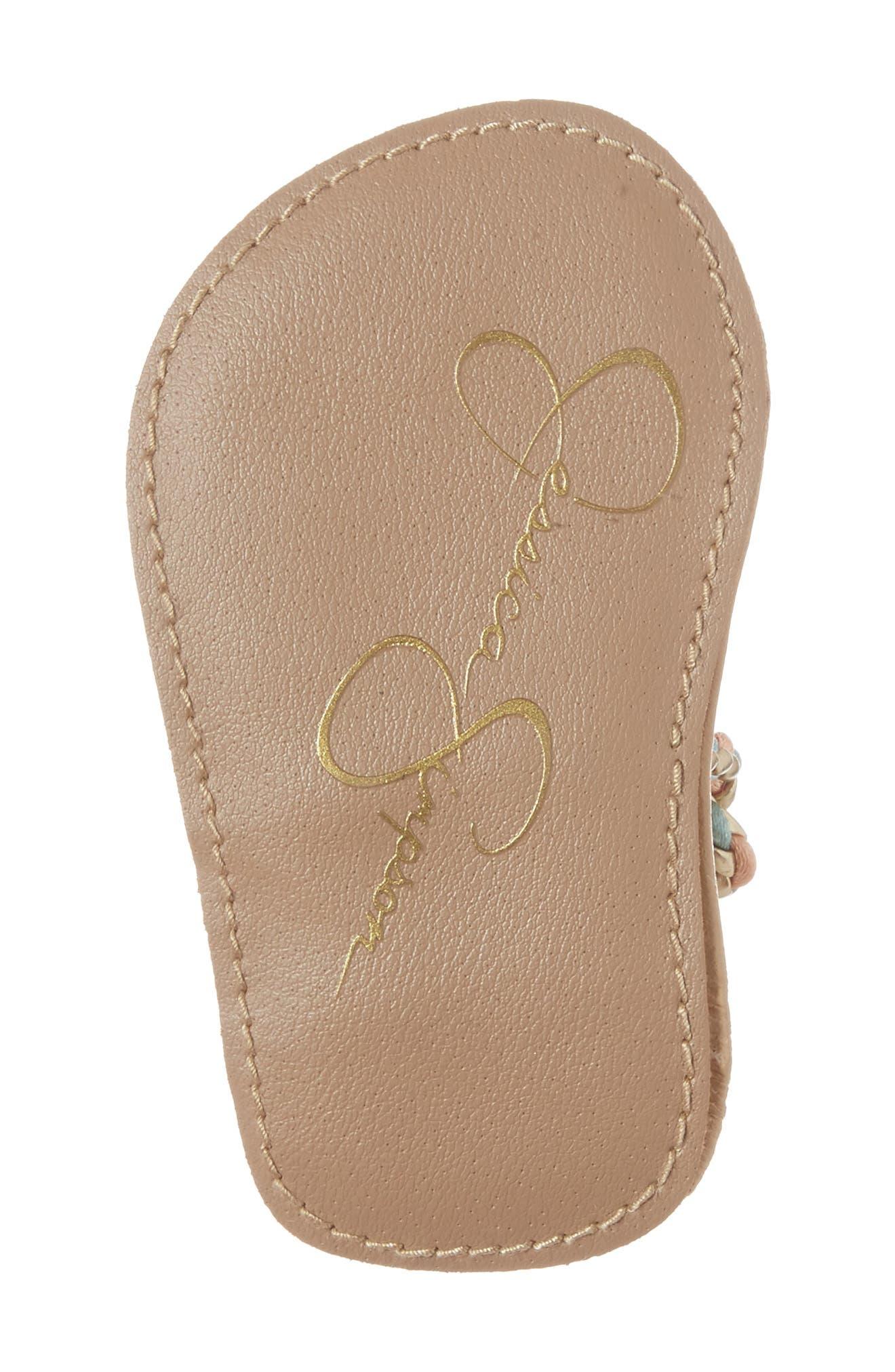 Alternate Image 6  - Jessica Simpson Swizzle Thong Sandal (Baby)