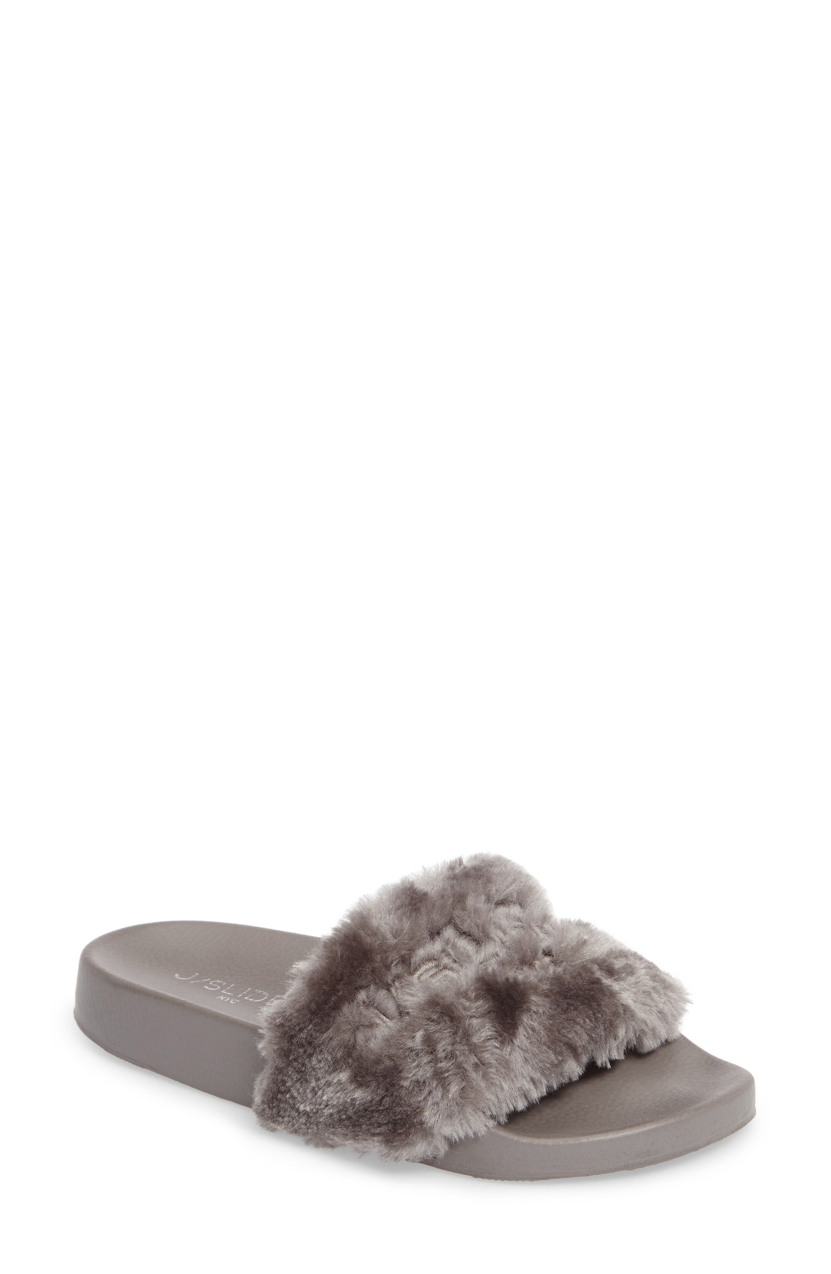 JSlides Samantha Faux Fur Slide (Women)