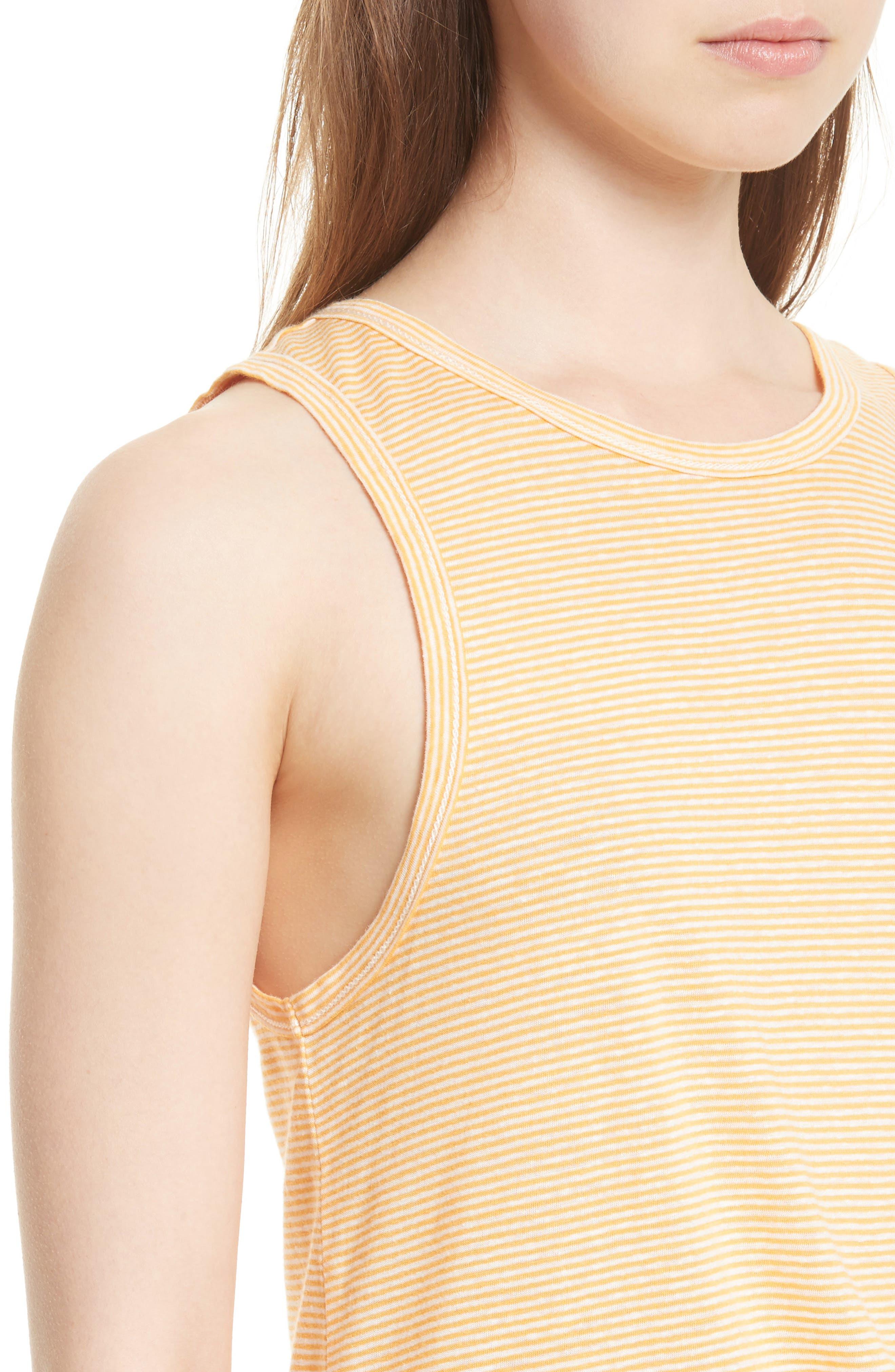 Alternate Image 4  - rag & bone/JEAN Ryder Stripe Linen Blend Tank