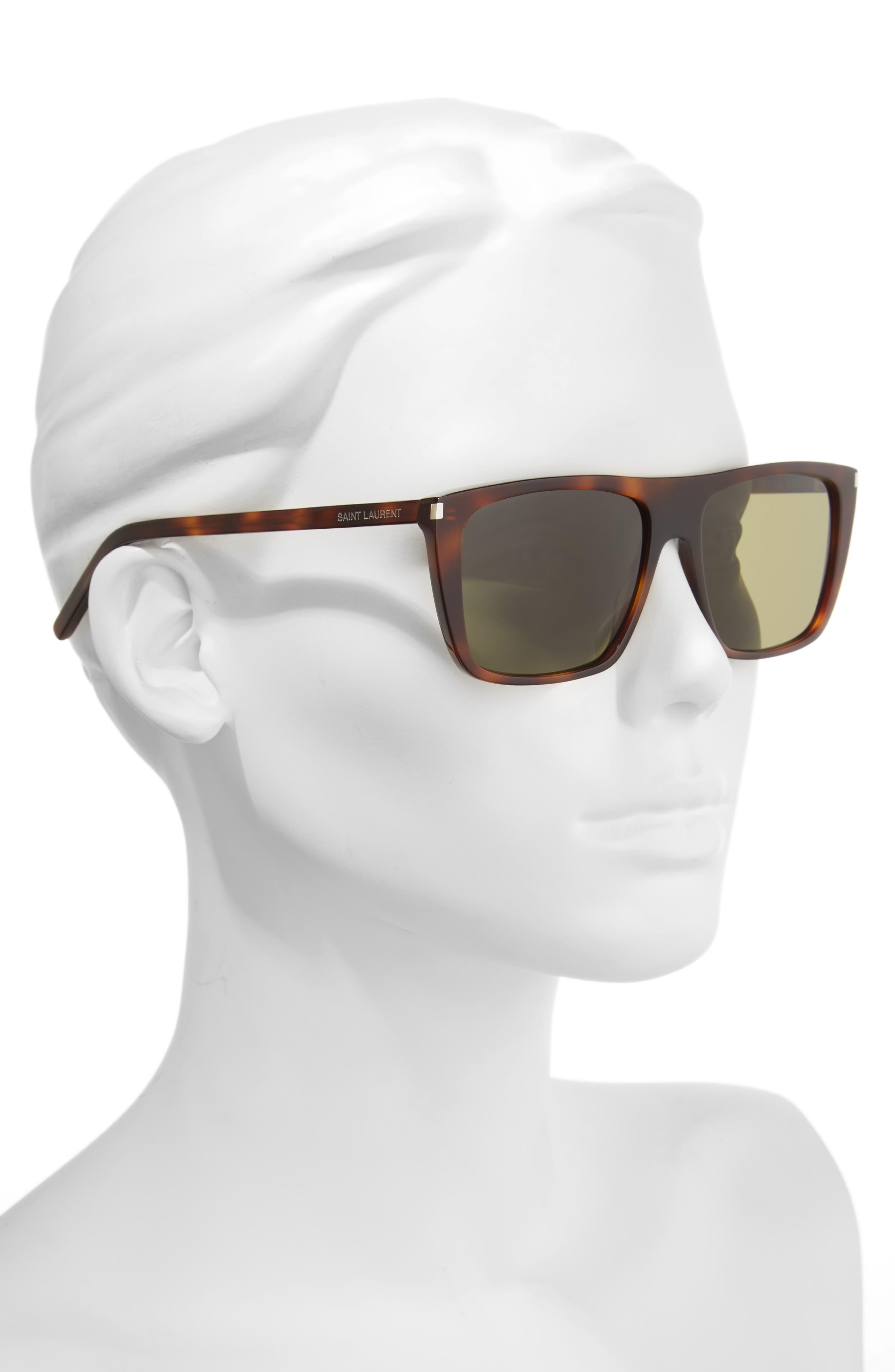 Avana 56mm Flat Top Sunglasses,                             Alternate thumbnail 2, color,                             Havana