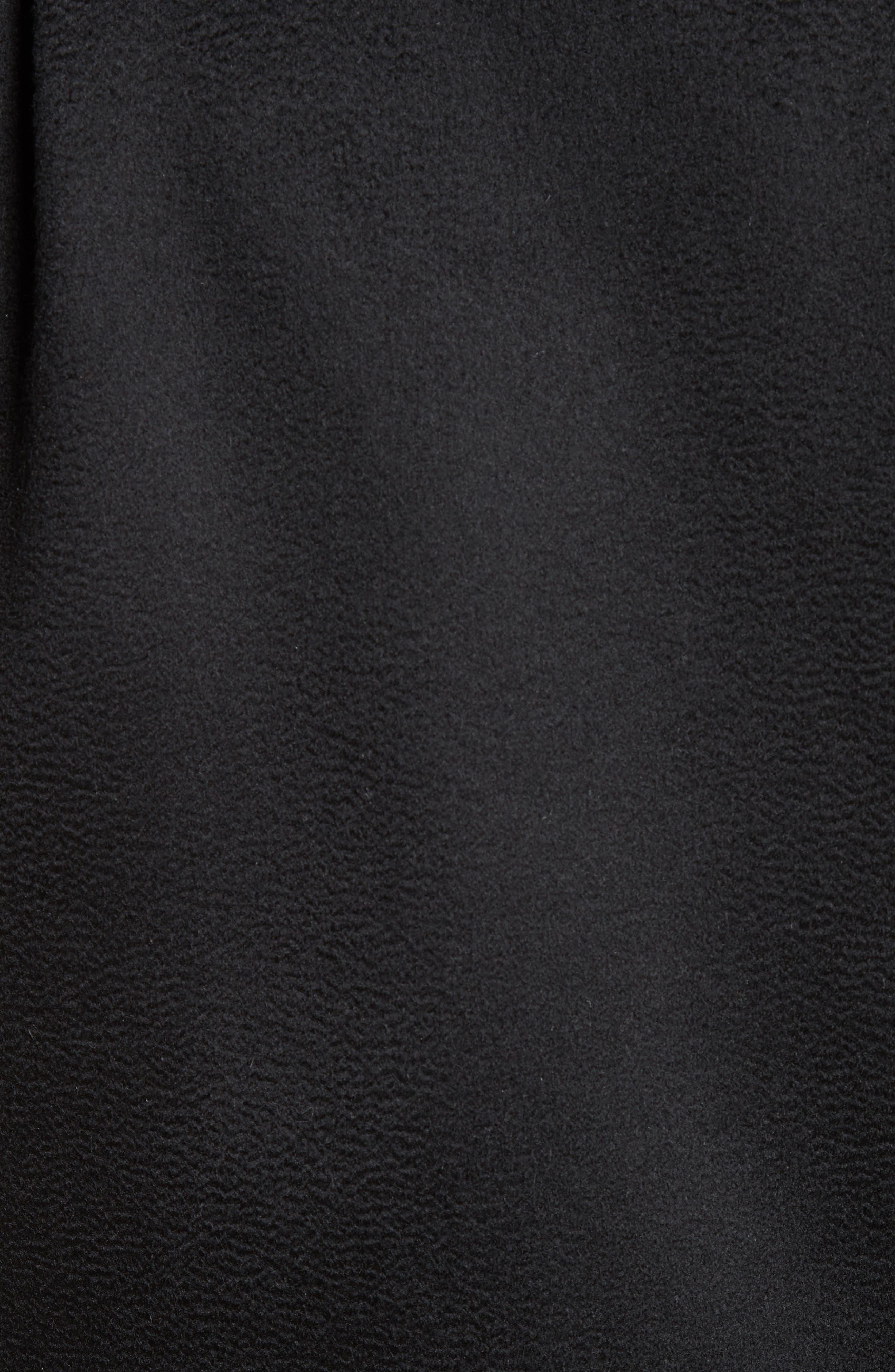 Cashmere Blend Zibeline Bomber,                             Alternate thumbnail 3, color,                             Black