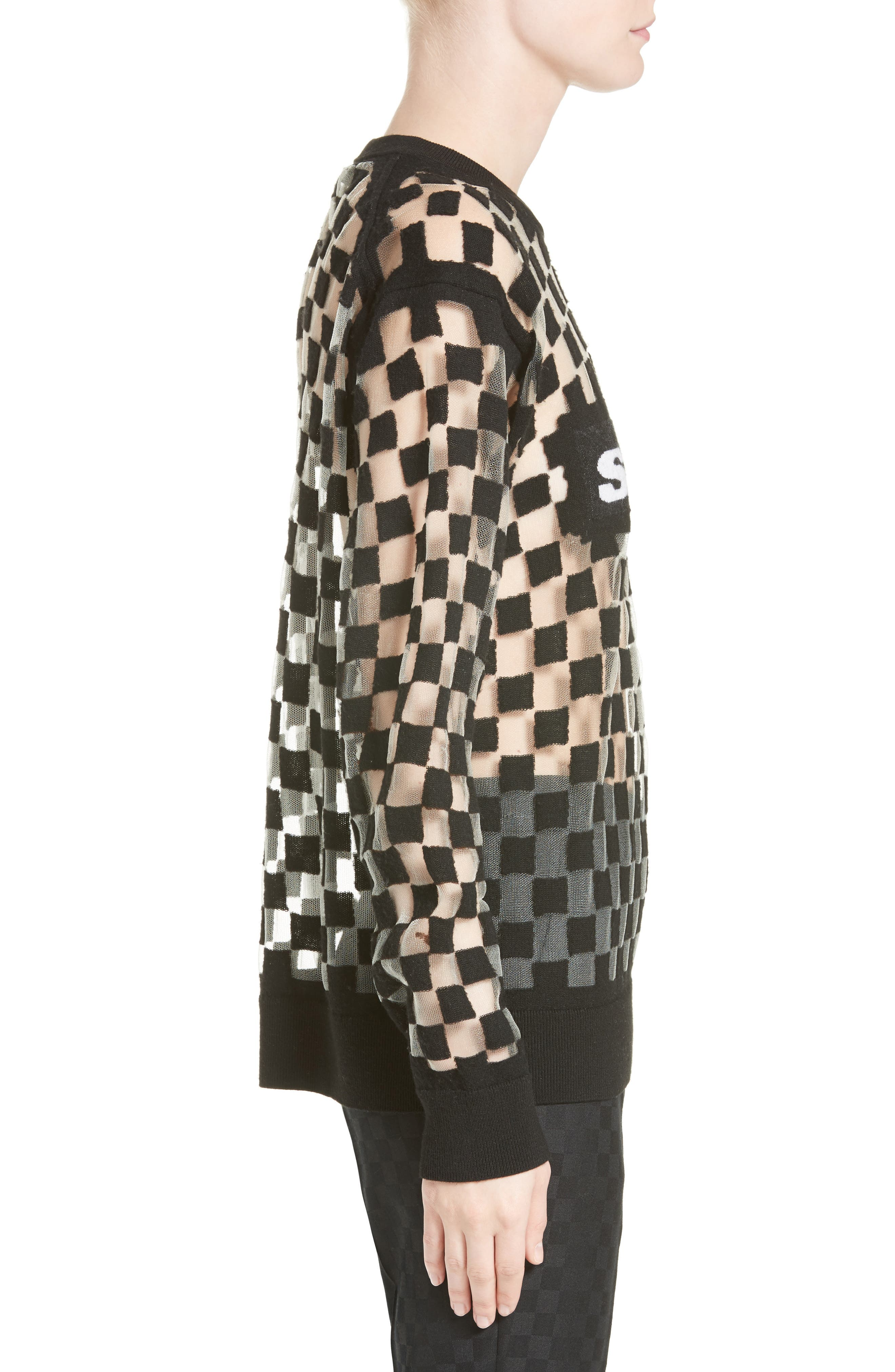 Alternate Image 5  - Alexander Wang Checkerboard Pullover