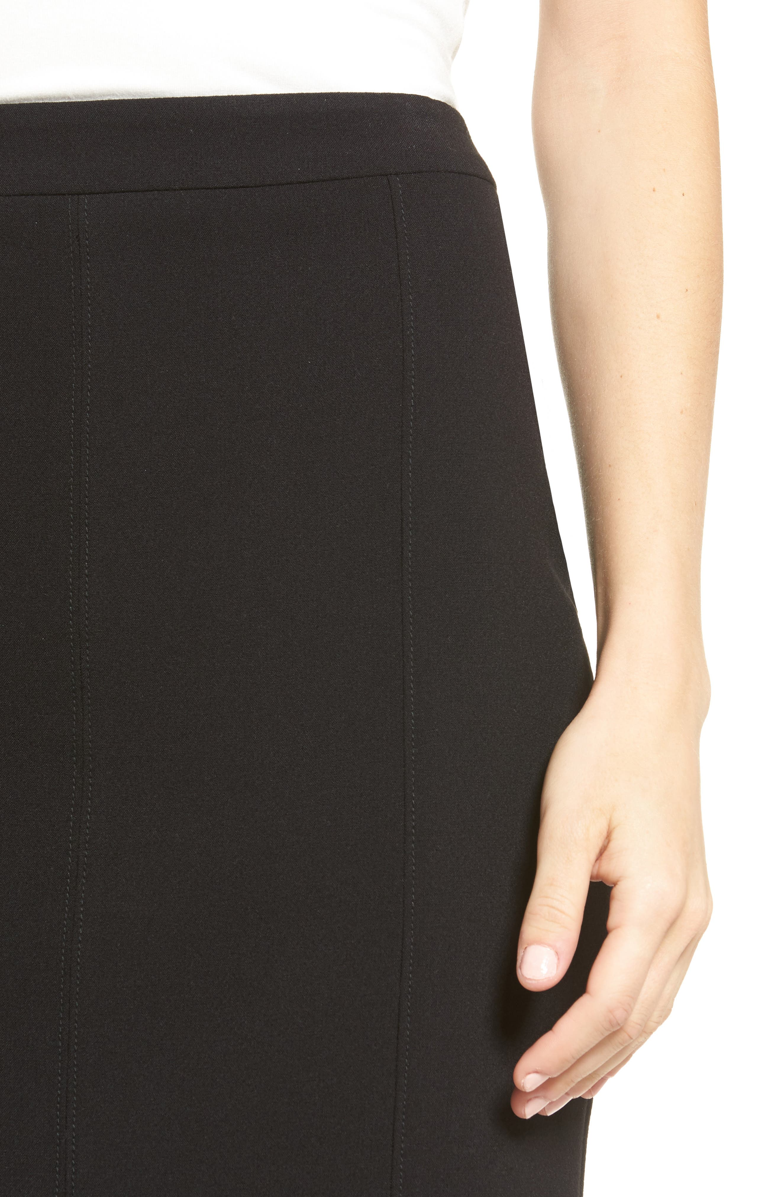 Alternate Image 4  - Halogen® Seamed Pencil Skirt (Regular & Petite)