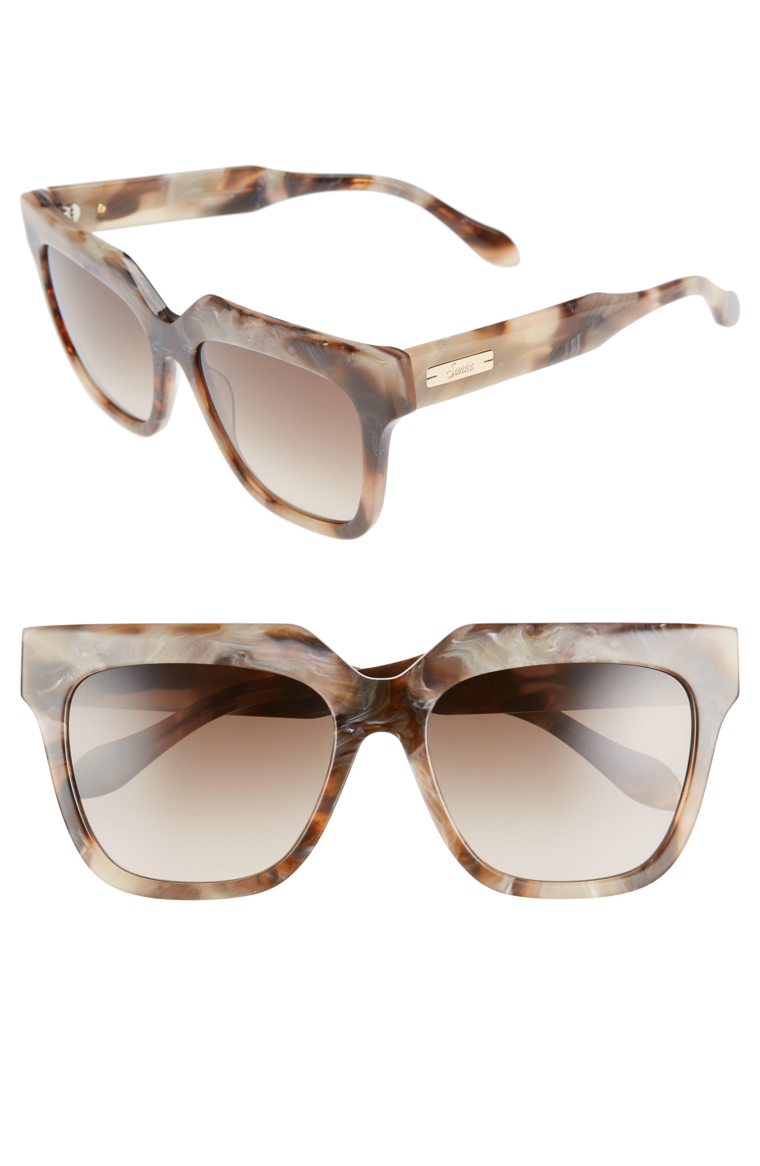 Sonix Avalon 55mm Gradient Lens Square Sunglasses