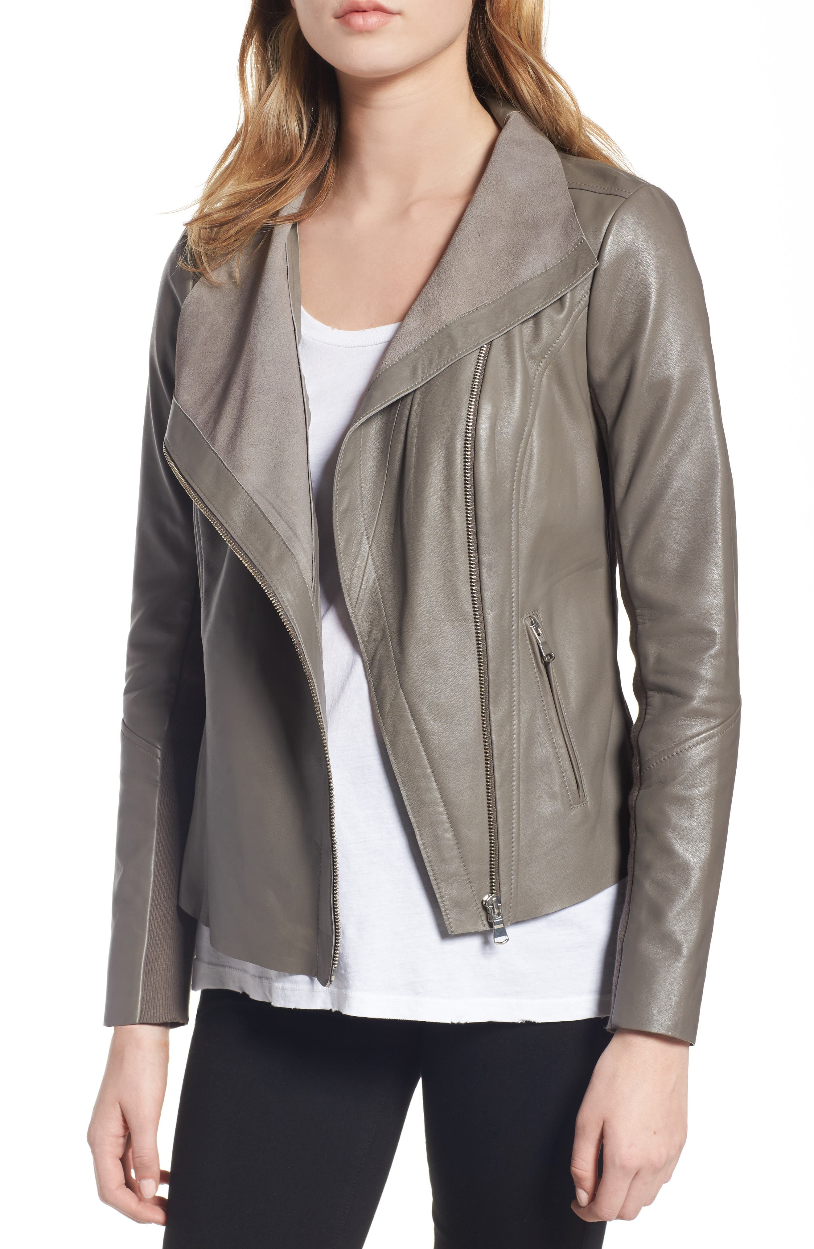 Trouvé Raw Edge Leather Jacket