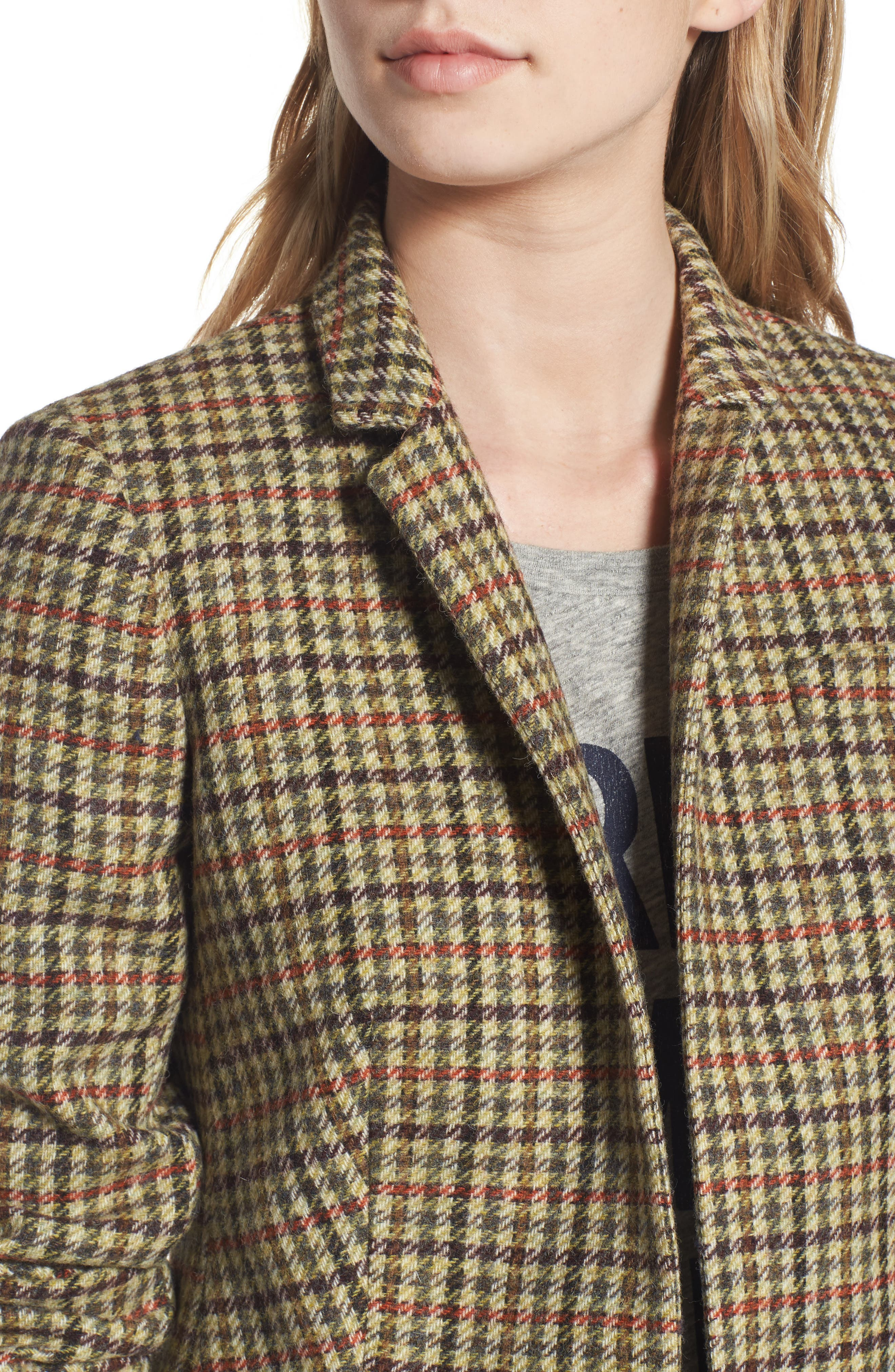 Alternate Image 5  - J.Crew Regent Houndstooth Plaid Blazer (Regular & Petite)