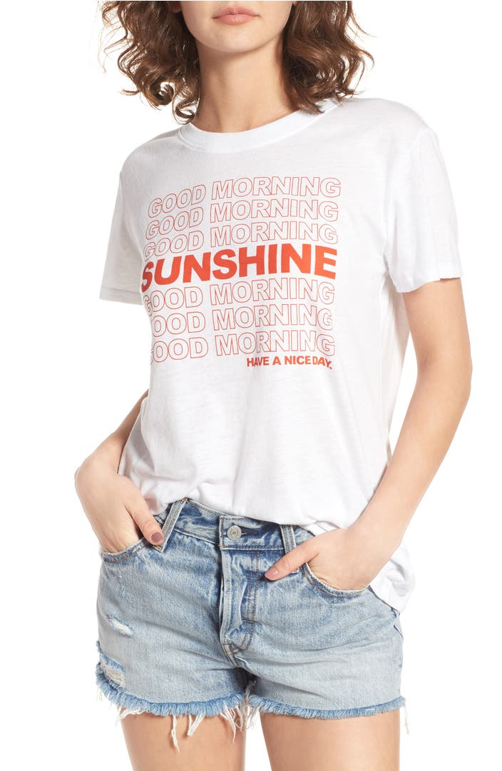 Good Morning Sunshine Tee : Sub urban riot good morning sunshine graphic tee nordstrom