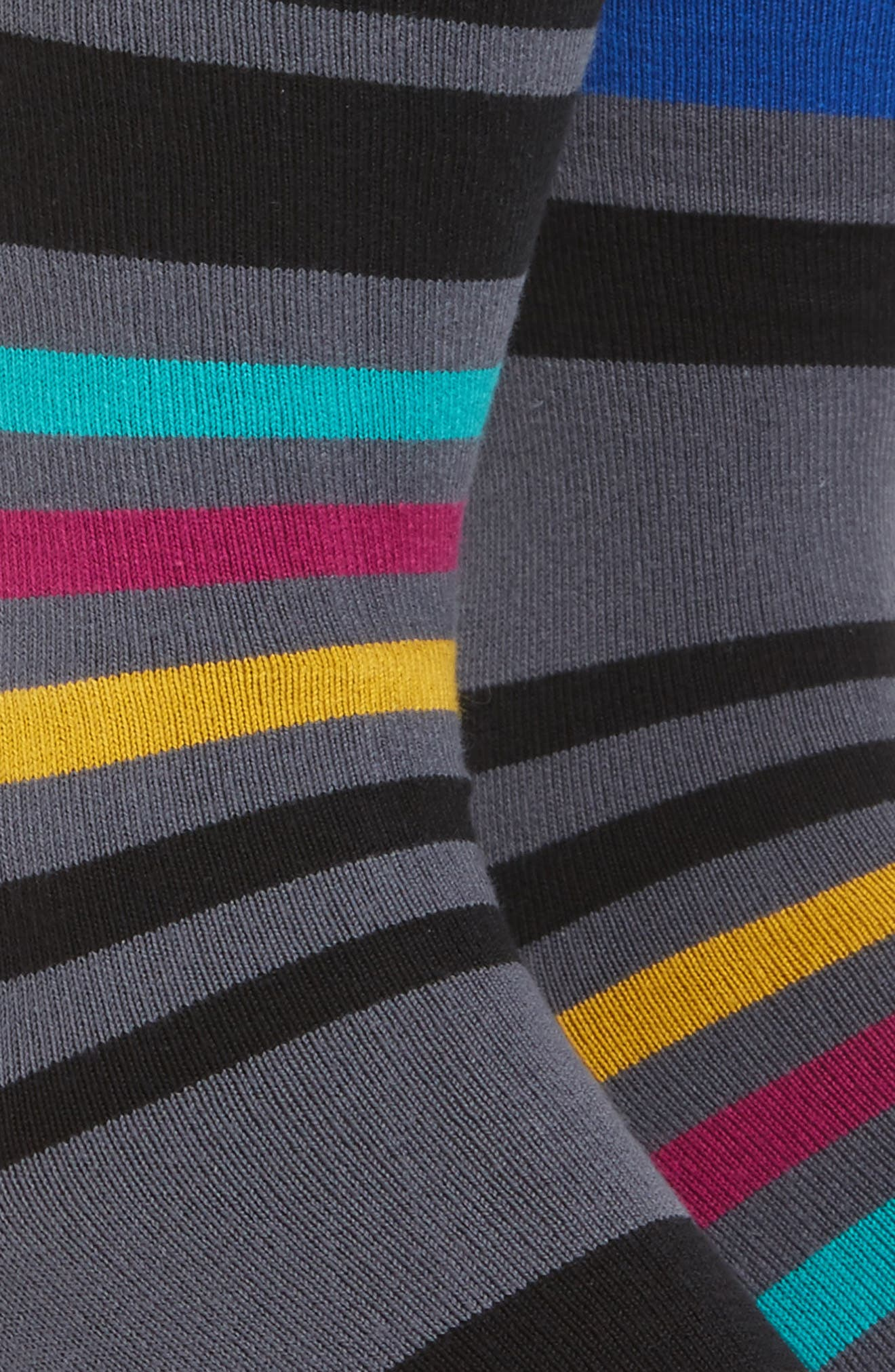 Alternate Image 2  - Paul Smith Odd Block Stripe Socks