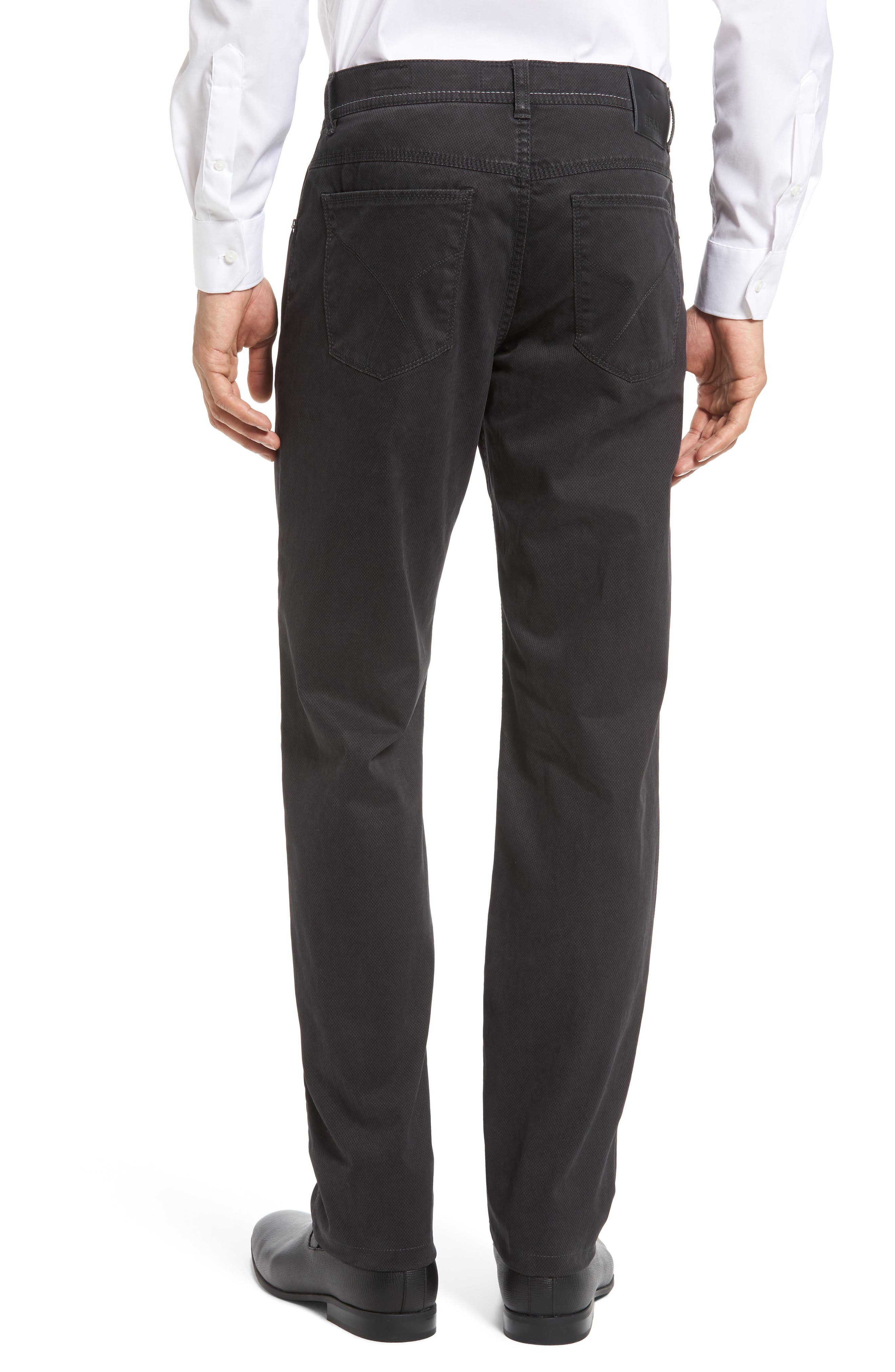 Luxury Stretch Modern Fit Trousers,                             Alternate thumbnail 2, color,                             Charcoal