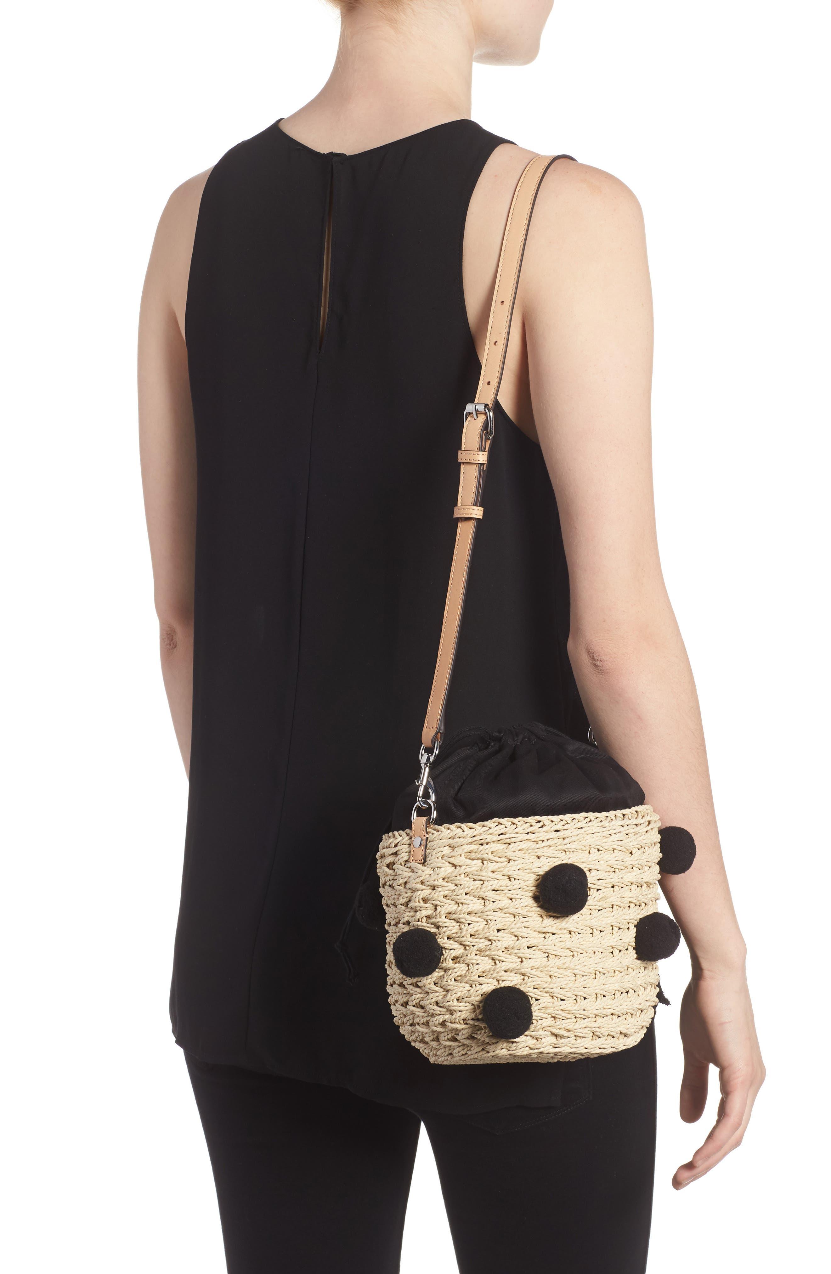 Alternate Image 2  - Rebecca Minkoff Straw Pom Pom Bucket Bag