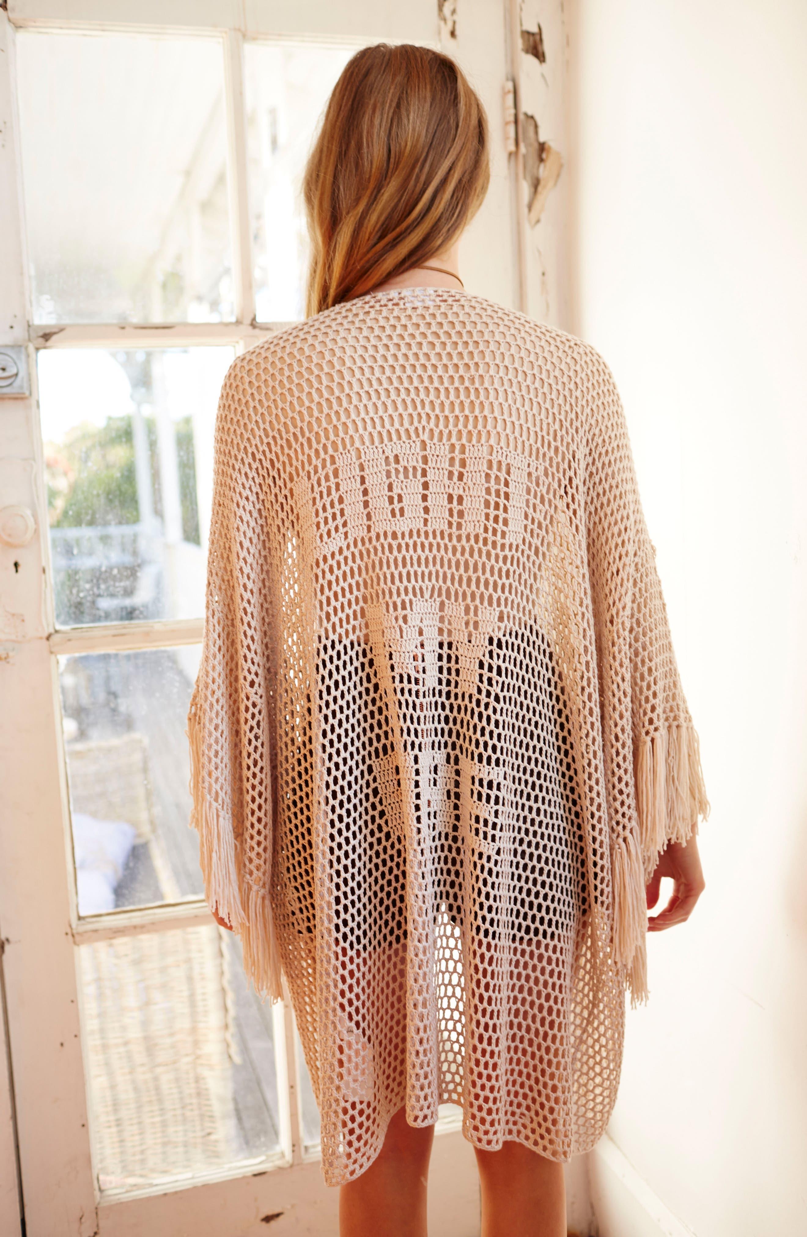 Alternate Image 7  - Somedays Lovin Crochet Kimono