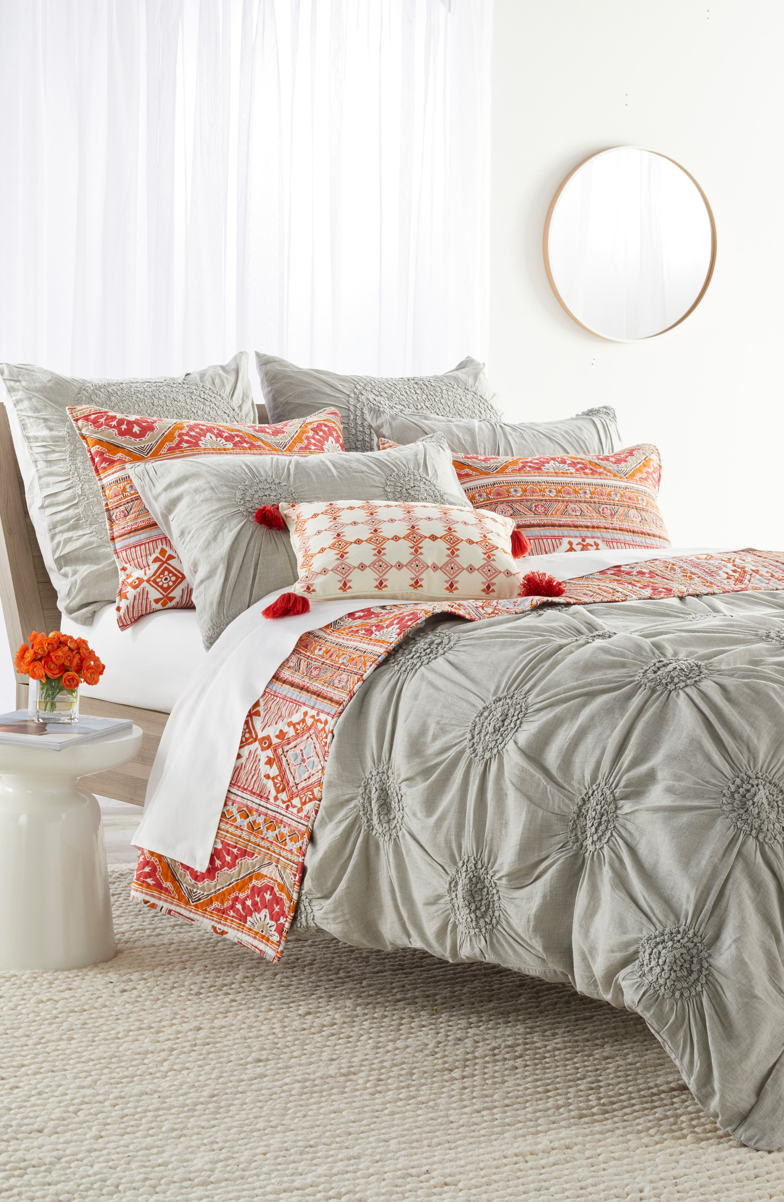 Piper Tassel Pillow,                             Alternate thumbnail 4, color,                             Red/ Multi