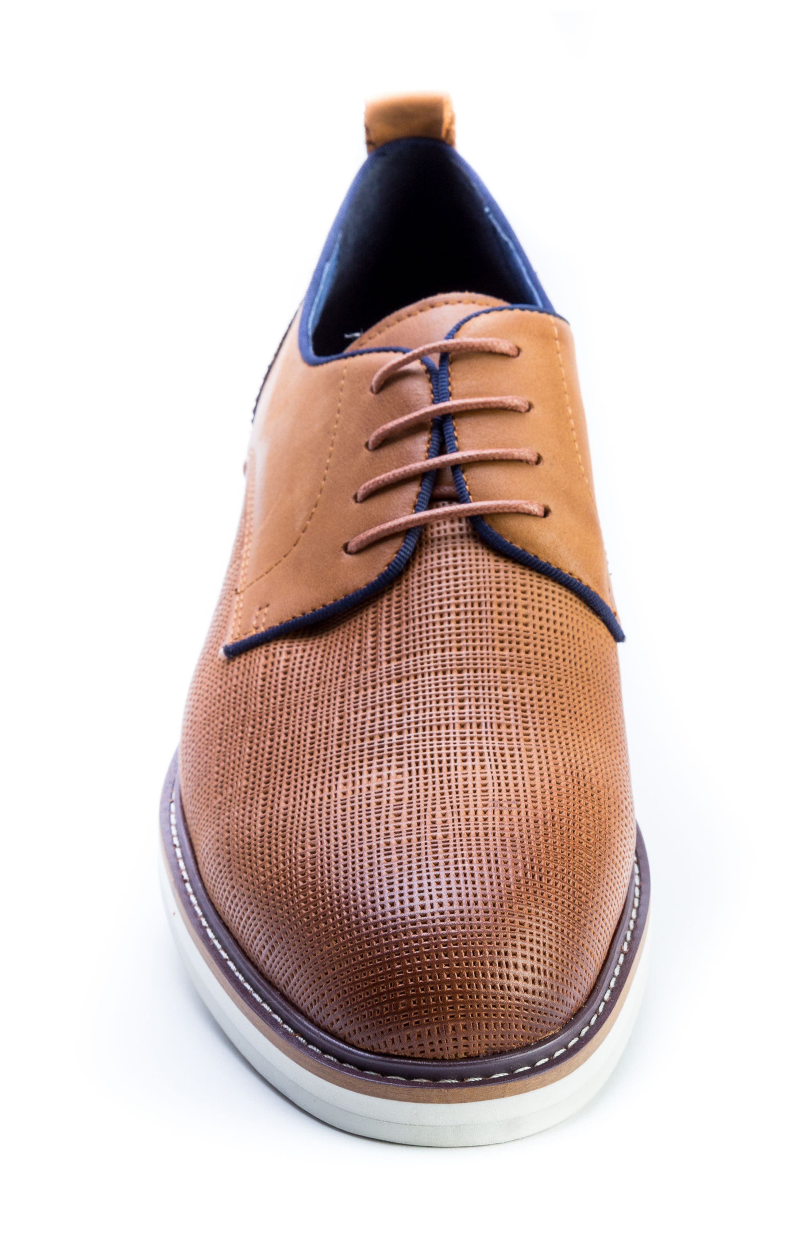 Homer Plain Toe Derby,                             Alternate thumbnail 4, color,                             Brown Suede