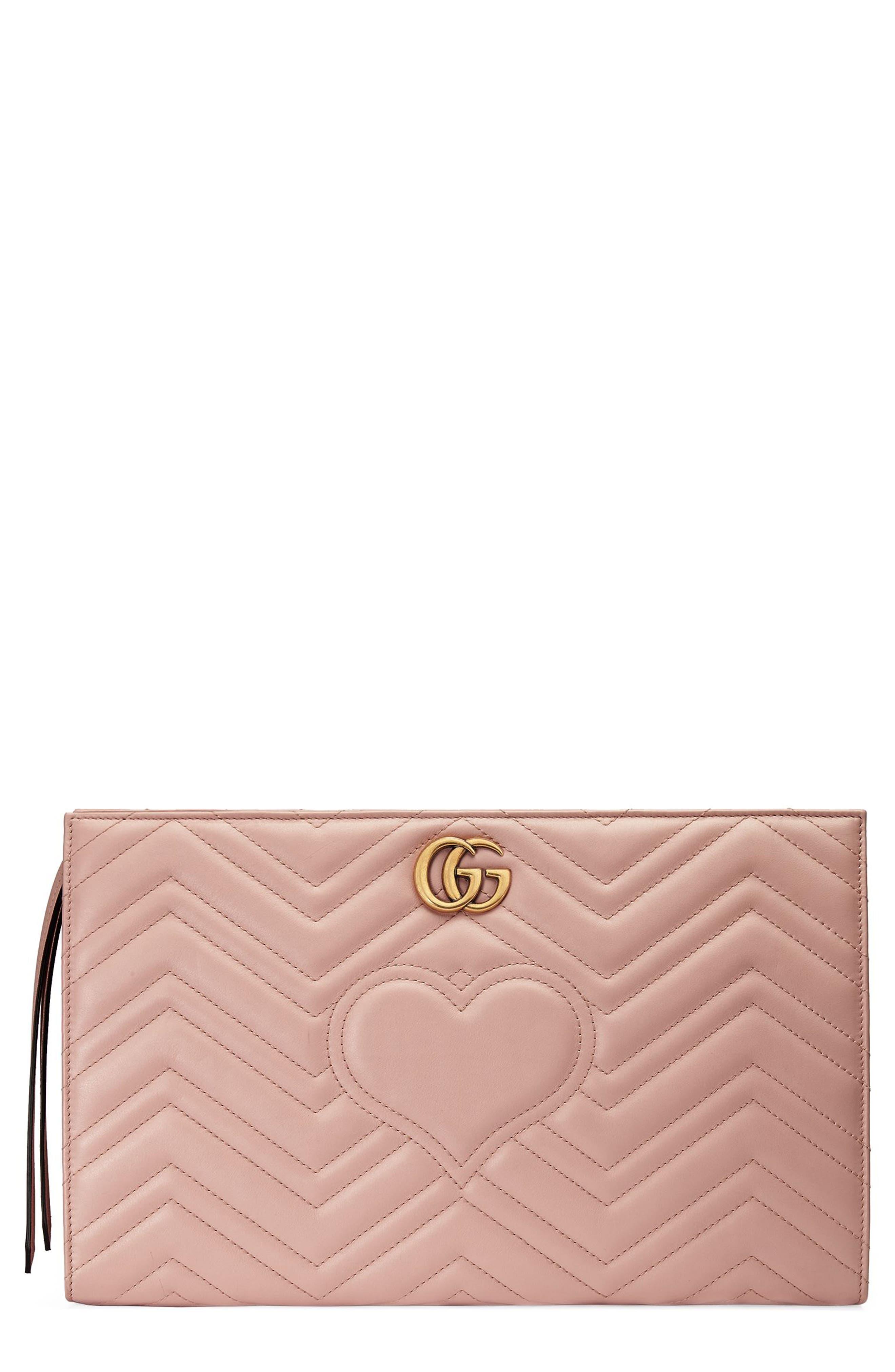 Gucci GG Marmont Matelassé Leather Clutch