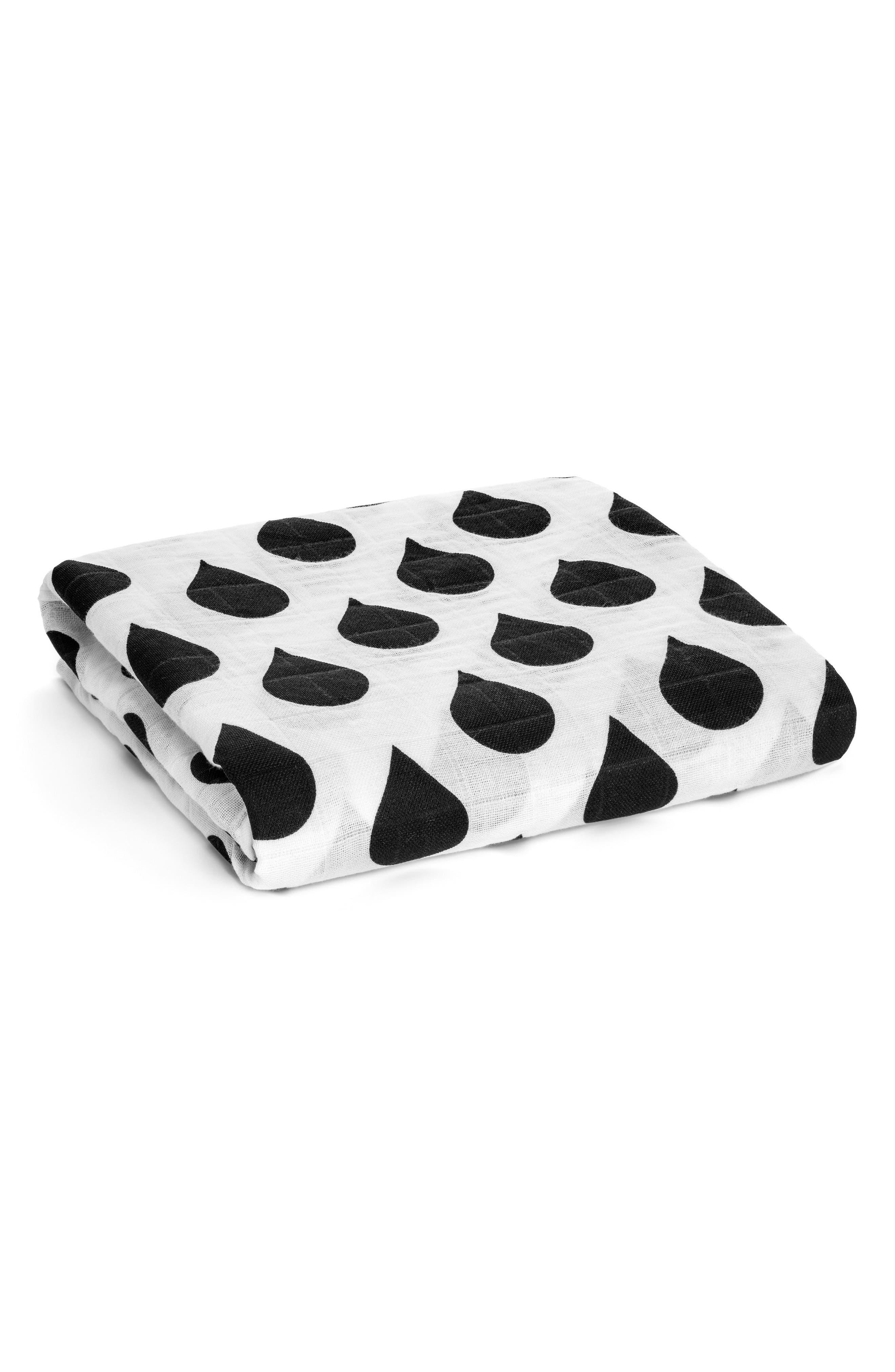 Modern Burlap Organic Cotton Muslin Blanket