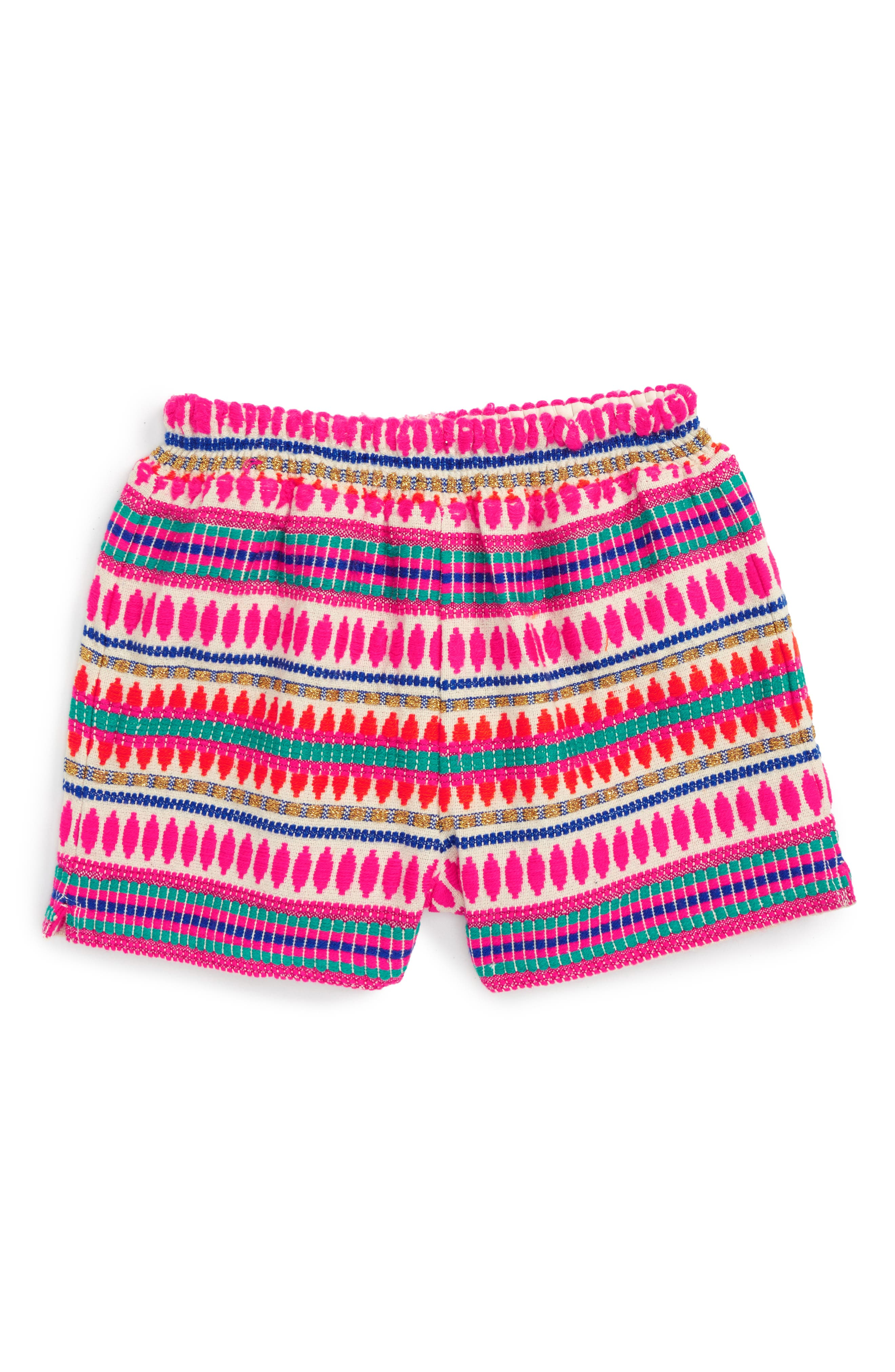 Peek Mexico Embroidered Shorts (Toddler Girls, Little Girls & Big Girls)