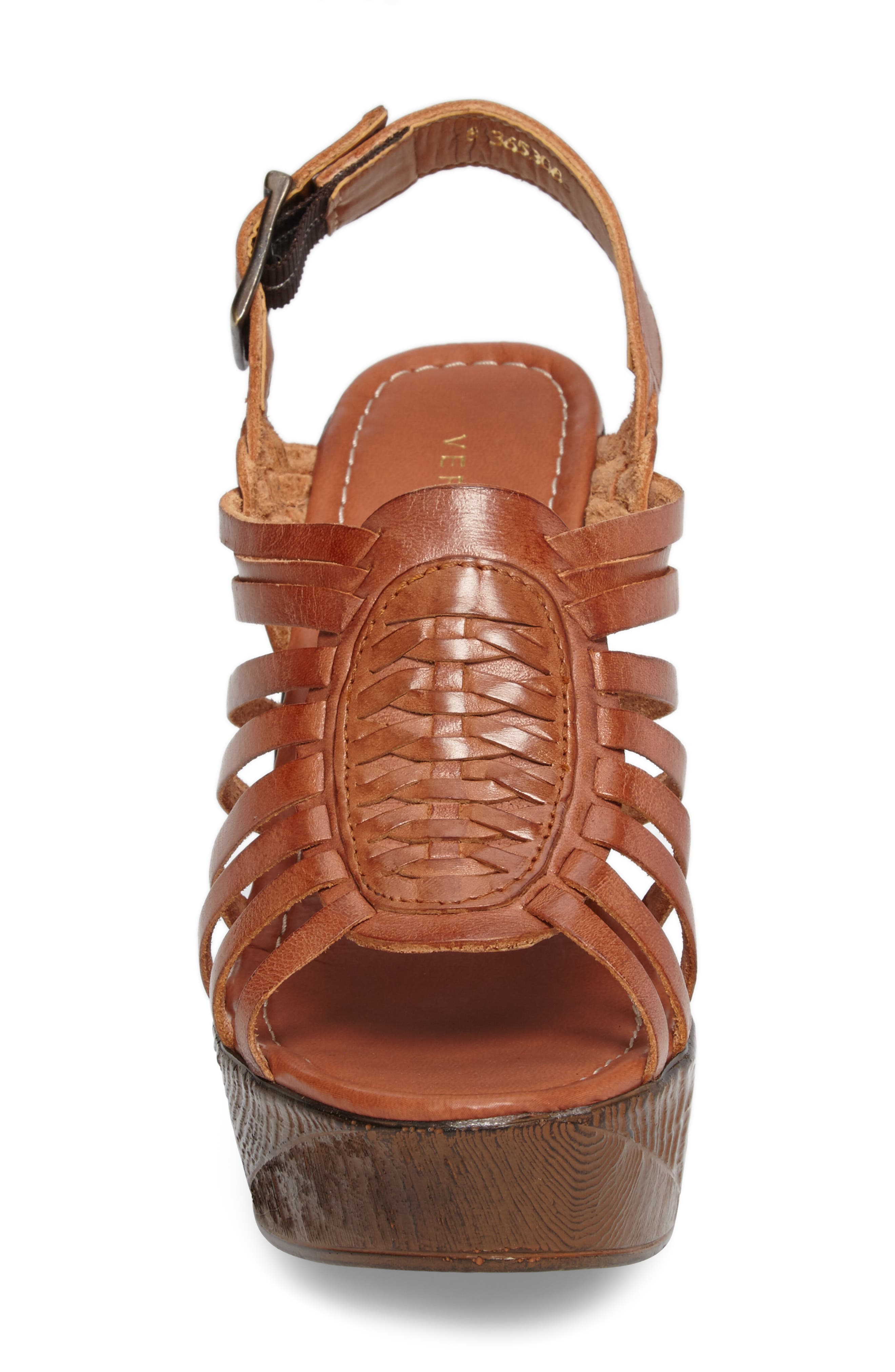 Prolific Wedge Sandal,                             Alternate thumbnail 4, color,                             Tan Leather
