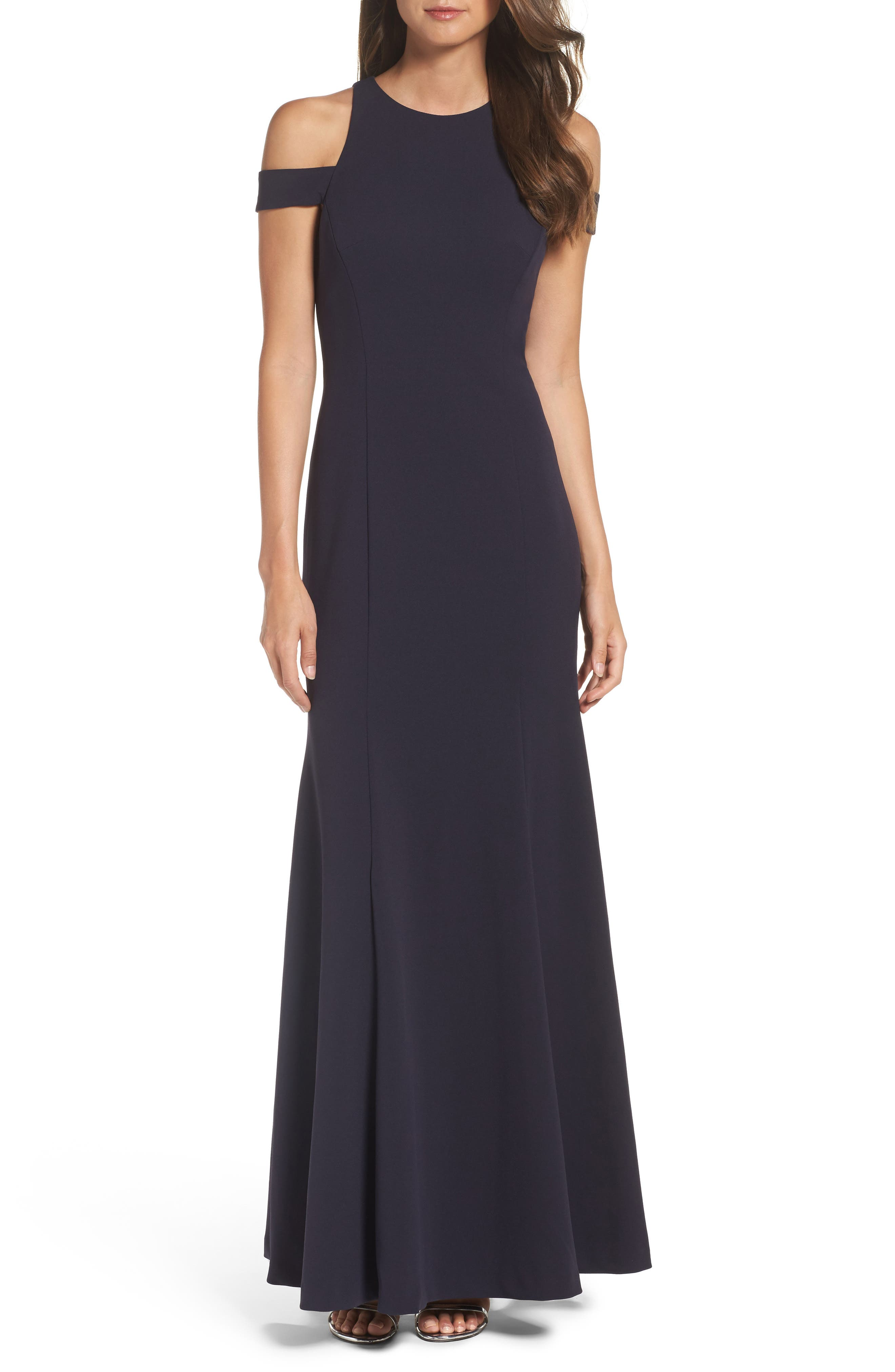 Cold Shoulder Gown,                         Main,                         color, Starry Night