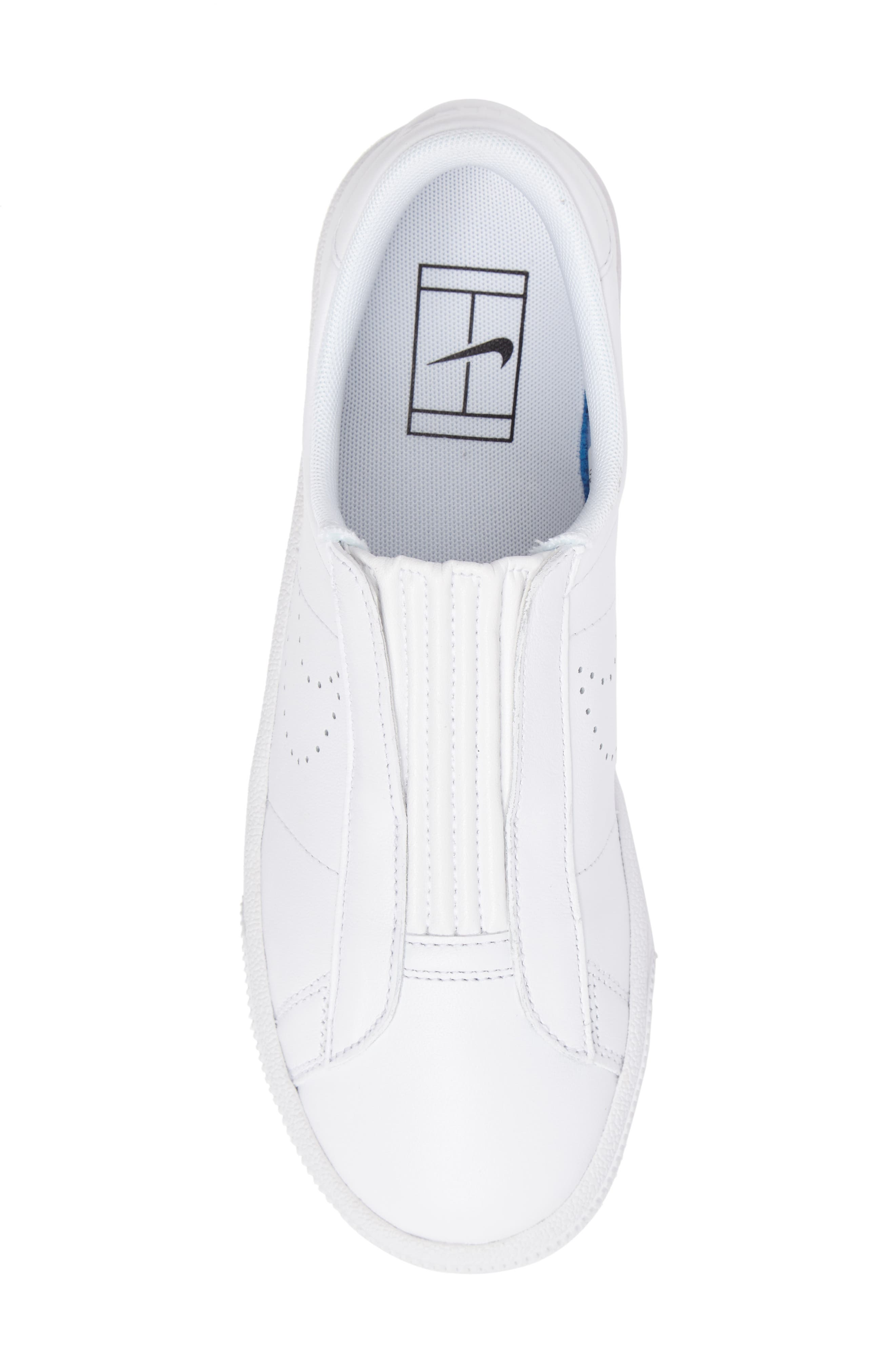 Classic EZ Slip-On Tennis Shoe,                             Alternate thumbnail 5, color,                             White/ White/ Black