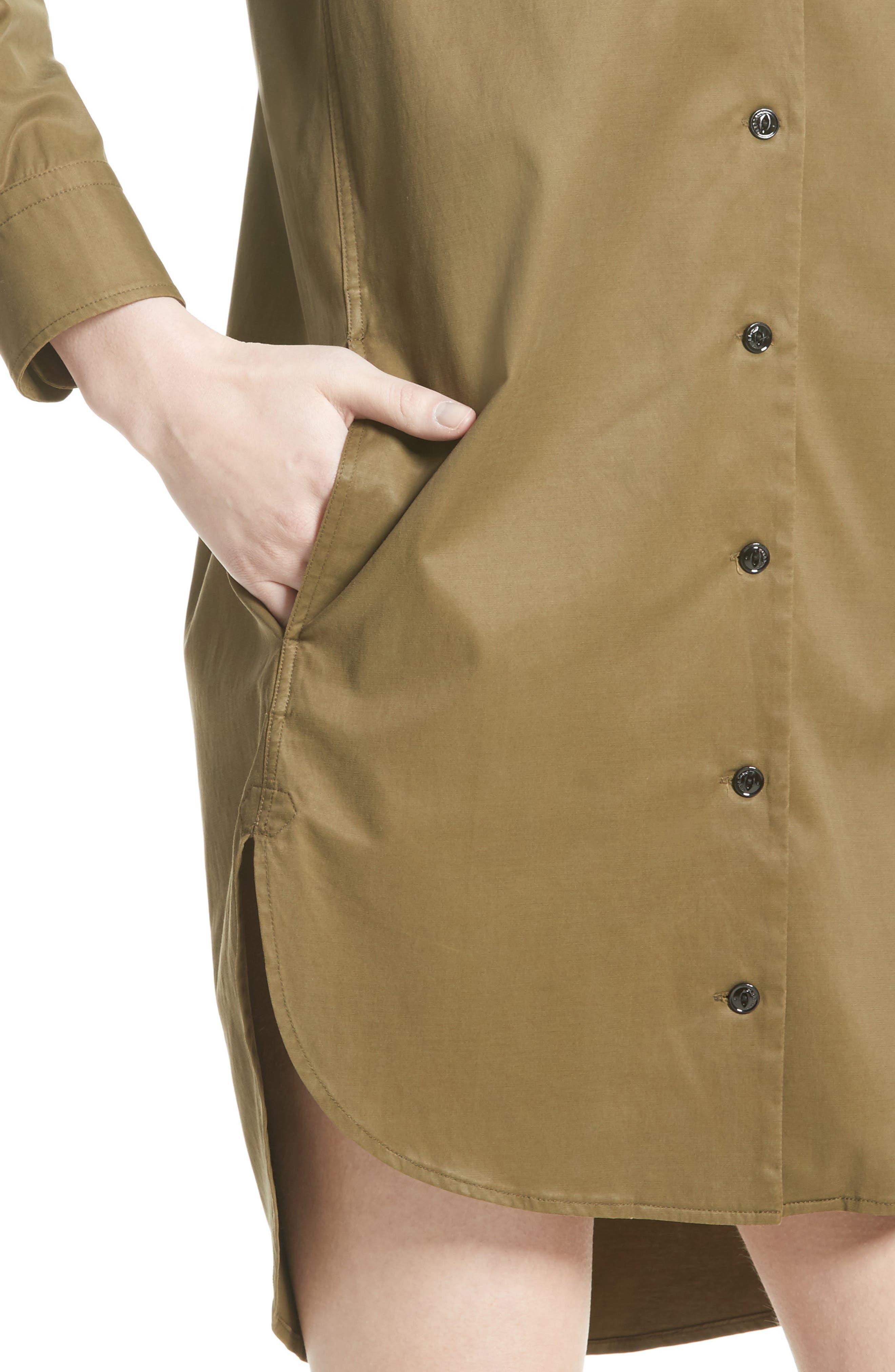 Mason Shirtdress,                             Alternate thumbnail 4, color,                             Dark Olive