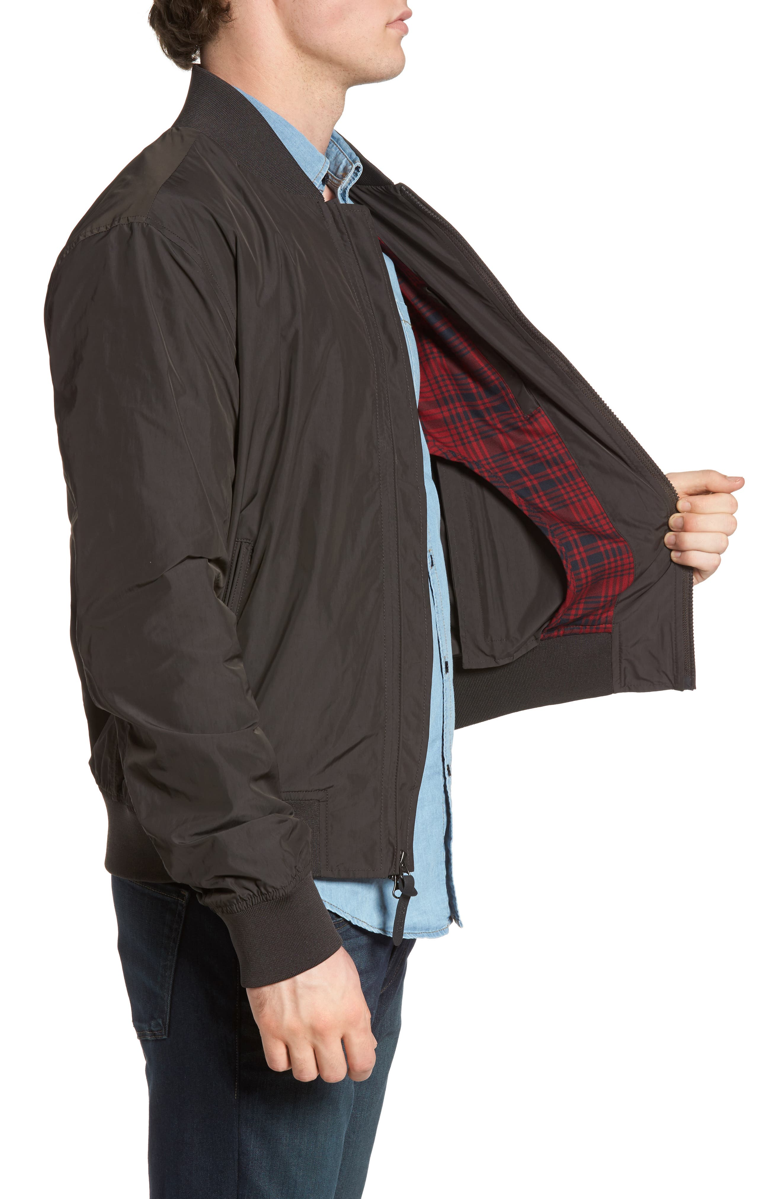 John Rich Shore Bomber Jacket,                             Alternate thumbnail 3, color,                             Faded Black