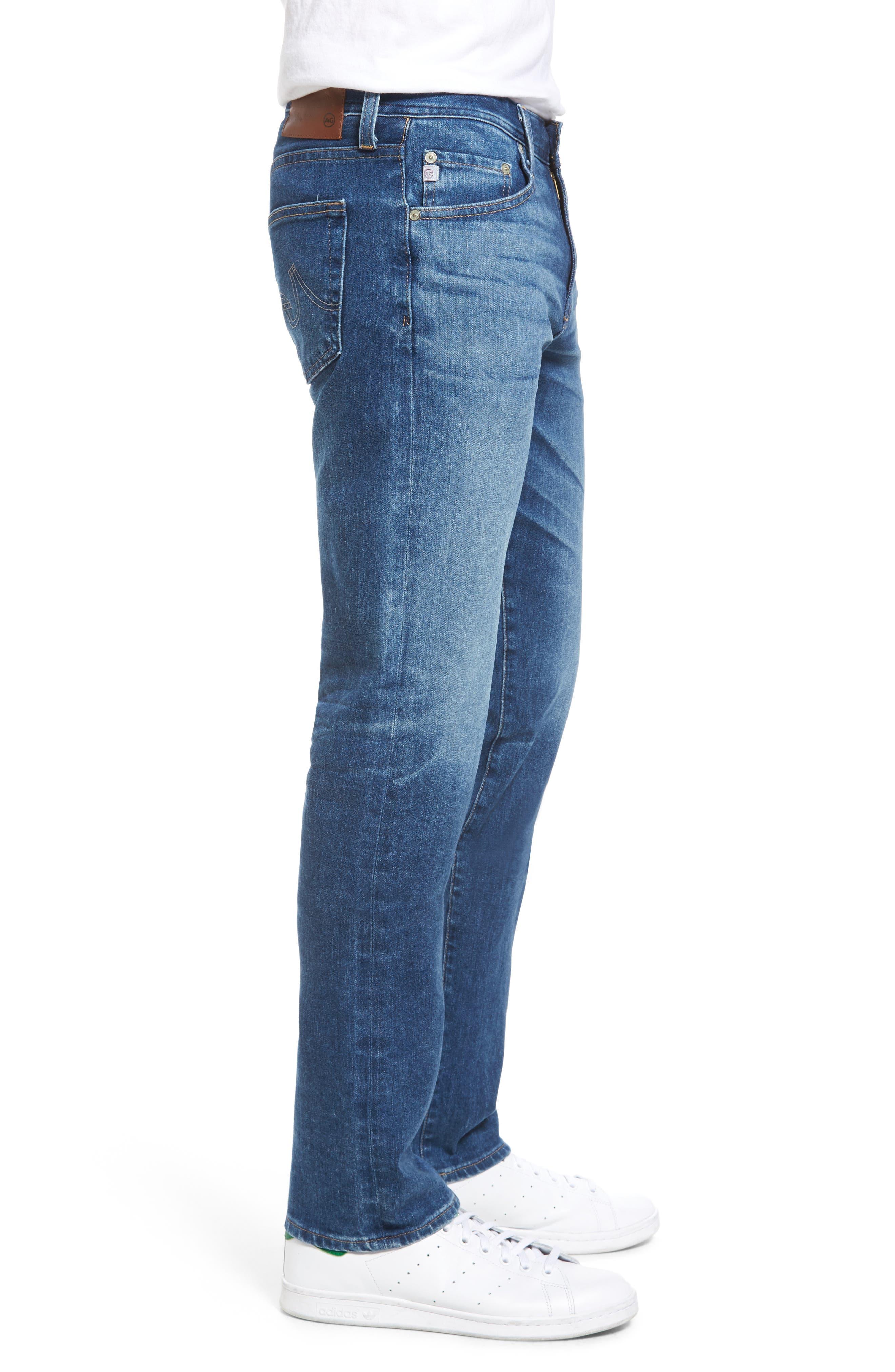 Graduate Slim Straight Leg Jeans,                             Alternate thumbnail 3, color,                             11 Years Delom