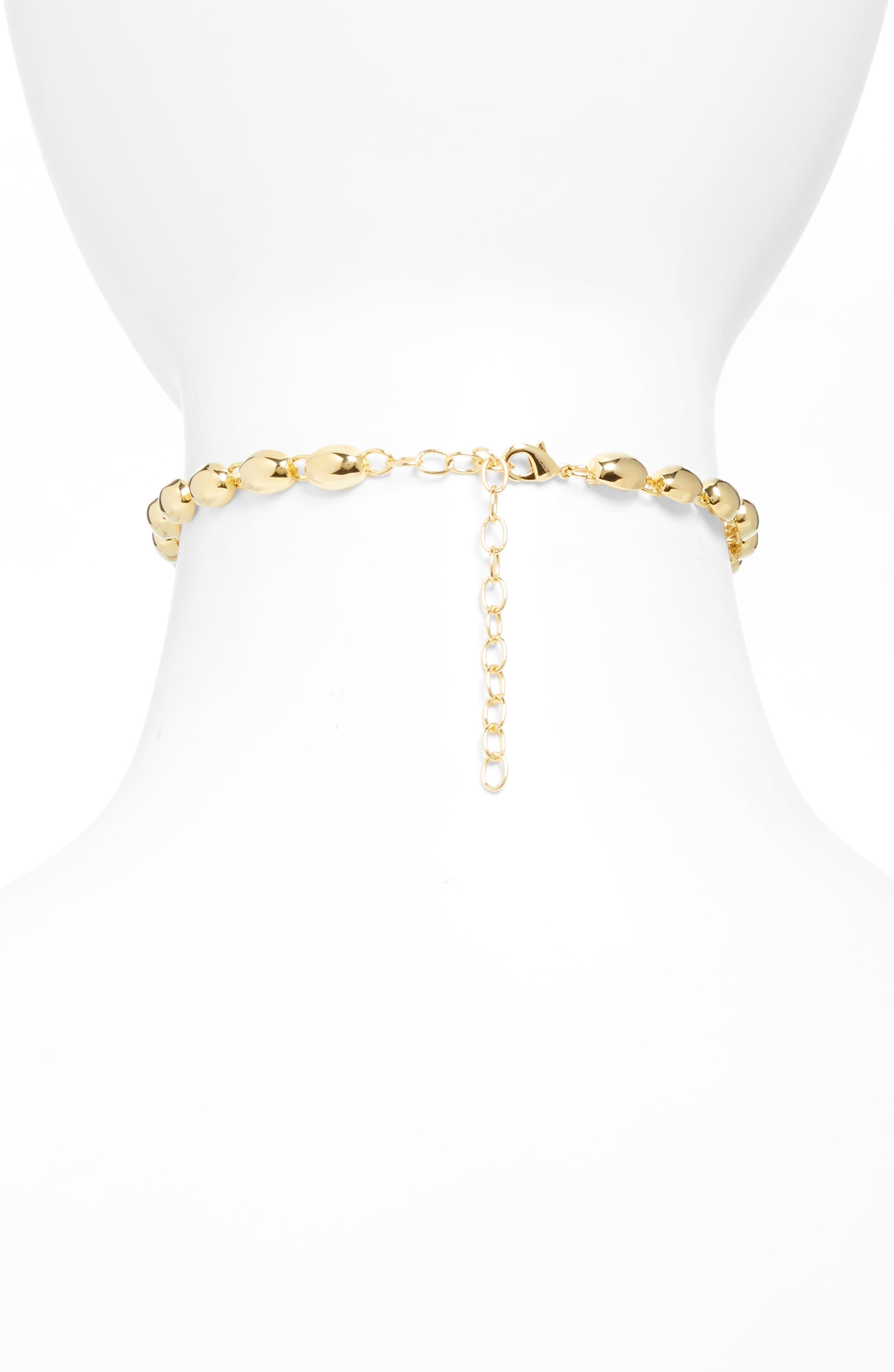 Rosa Blake Choker Necklace,                             Alternate thumbnail 2, color,                             Gold