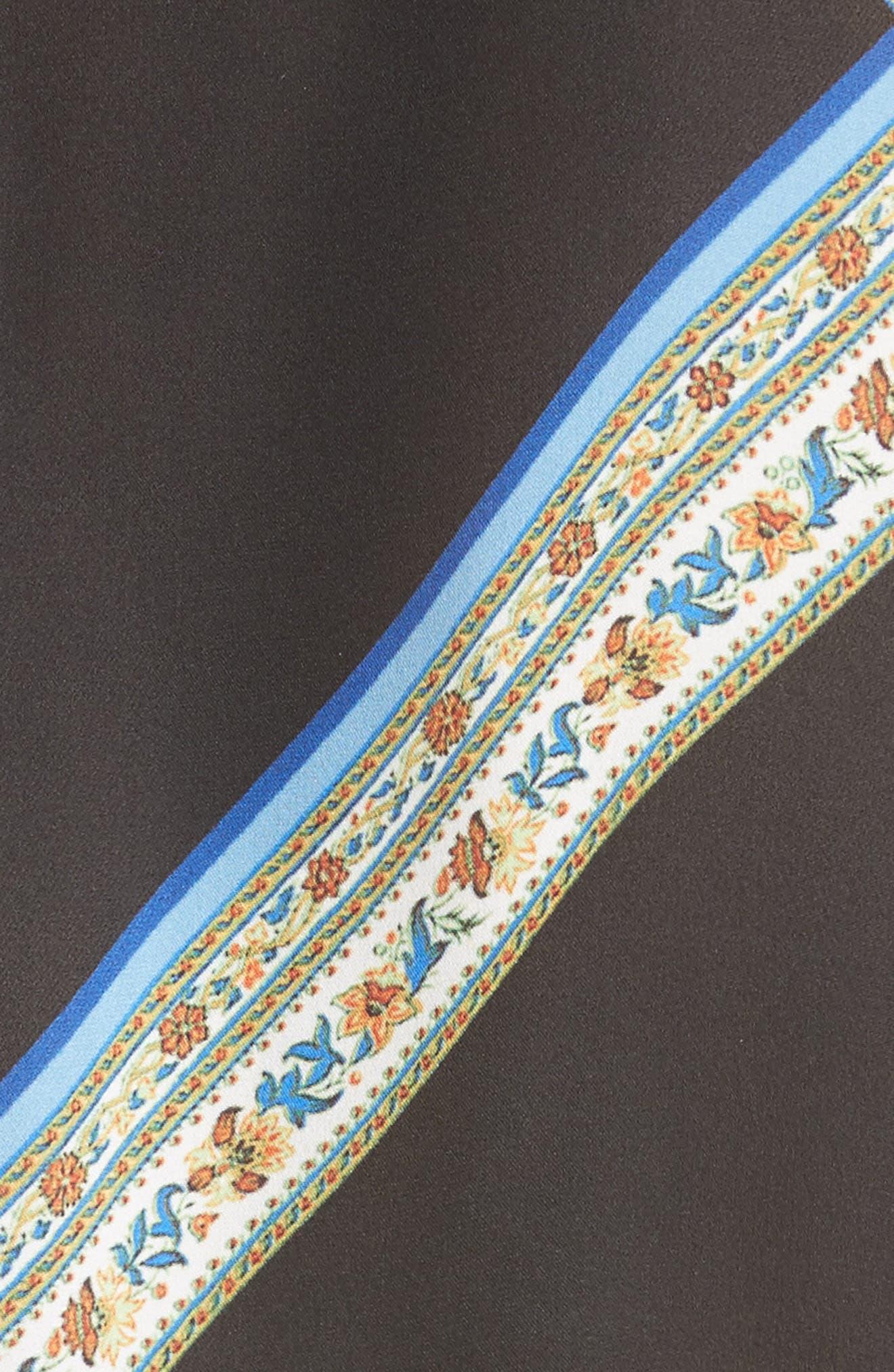 Alternate Image 3  - Etro Patchwork Print Silk Faux Wrap Blouse