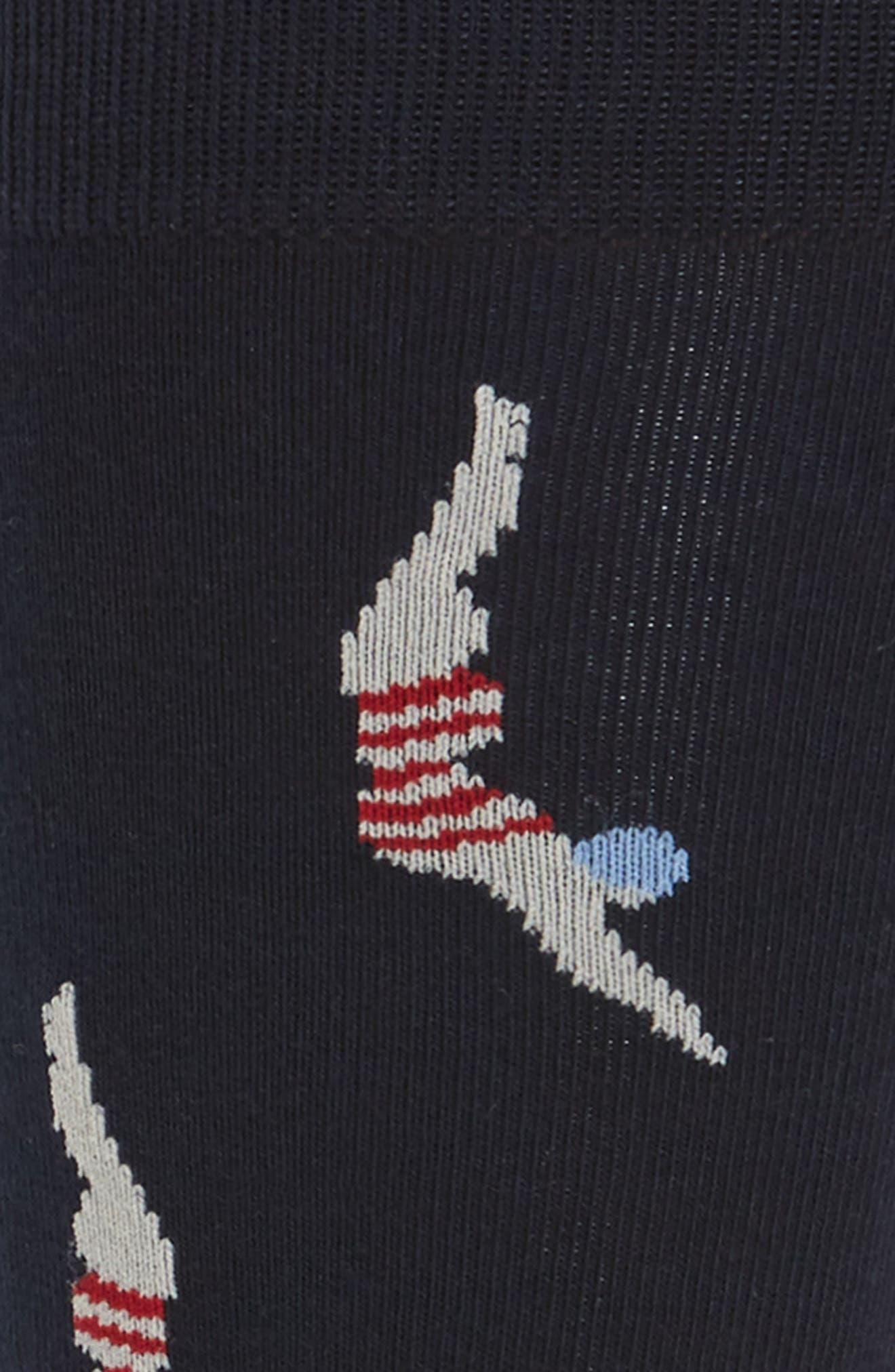 Splashdown Crew Socks,                             Alternate thumbnail 2, color,                             Navy