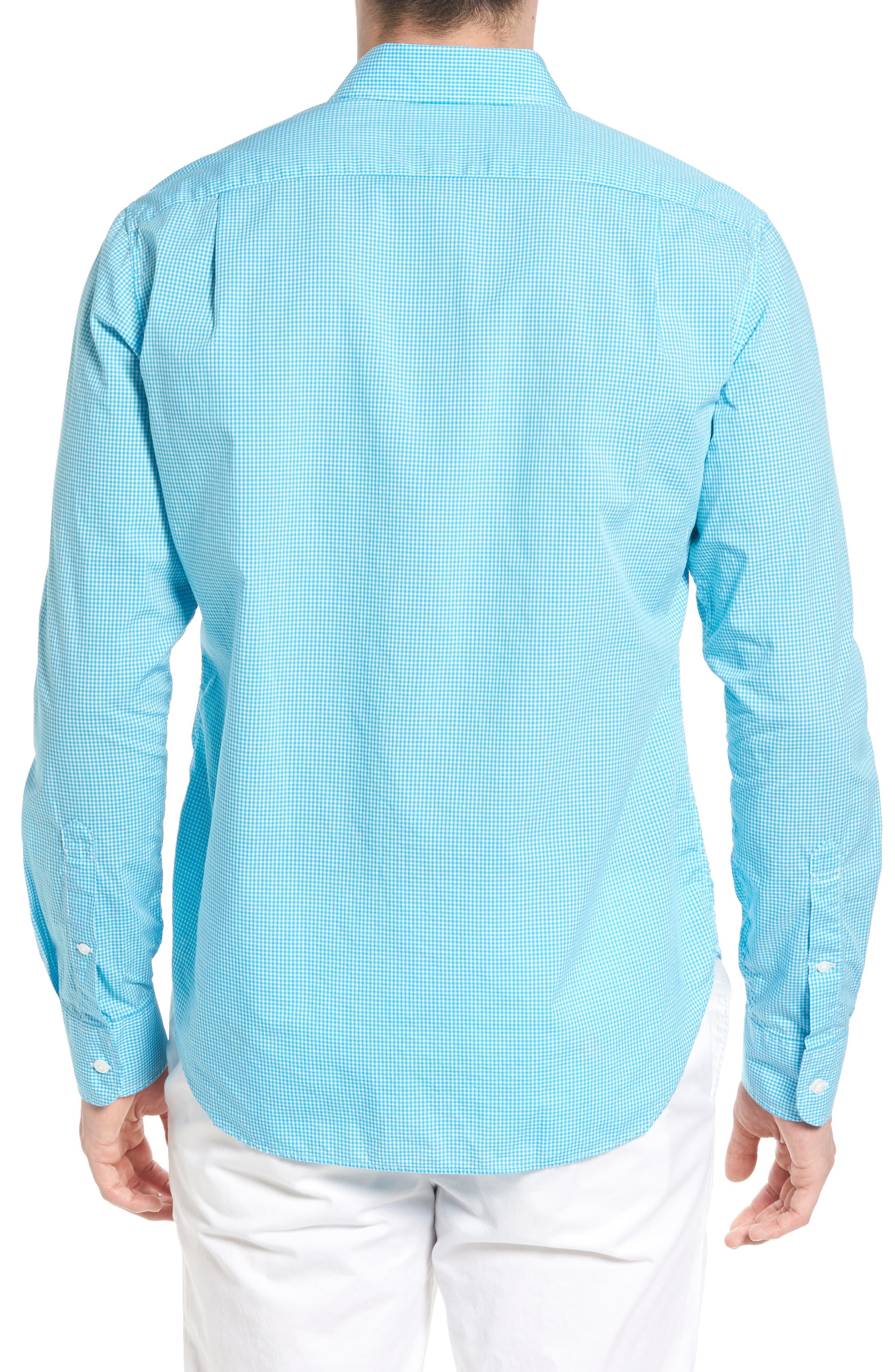 Summerweight Slim Fit Sport Shirt,                             Alternate thumbnail 2, color,                             Bonid Gingham Blue
