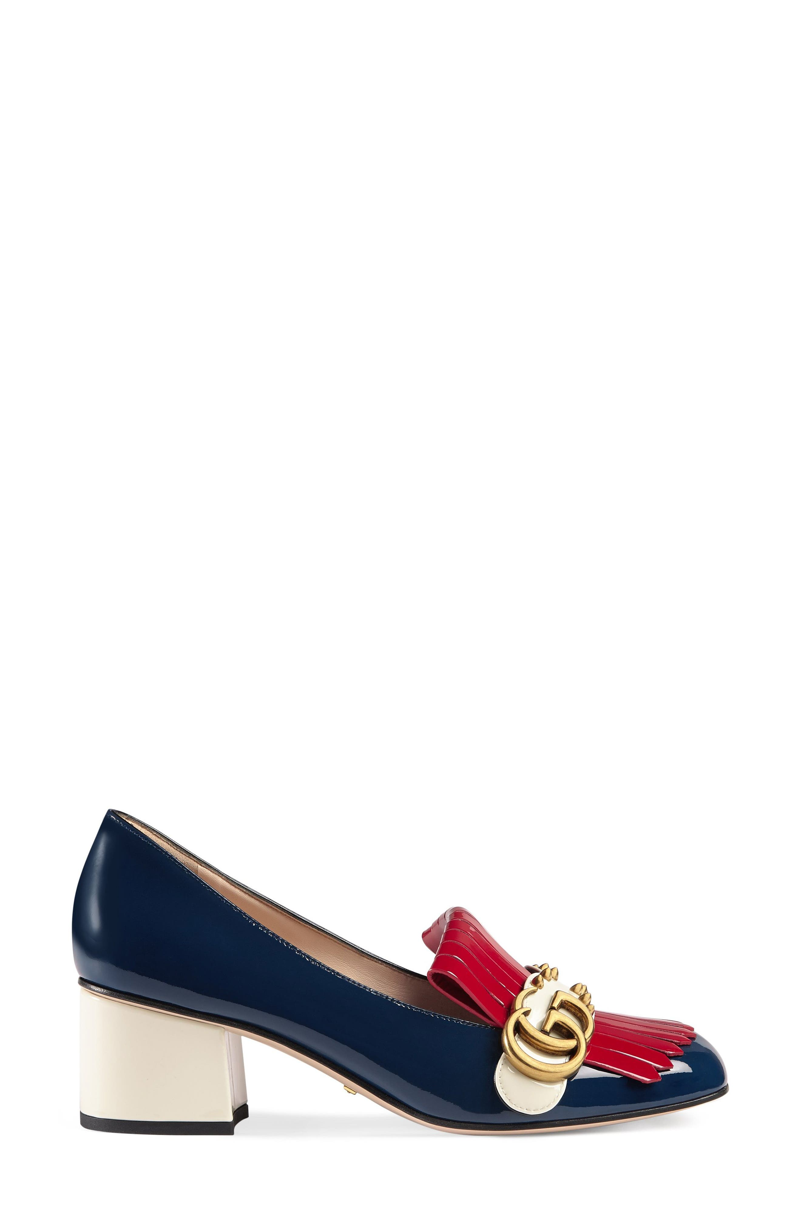 Marmont Pump,                             Main thumbnail 1, color,                             Navy/ Red/ White