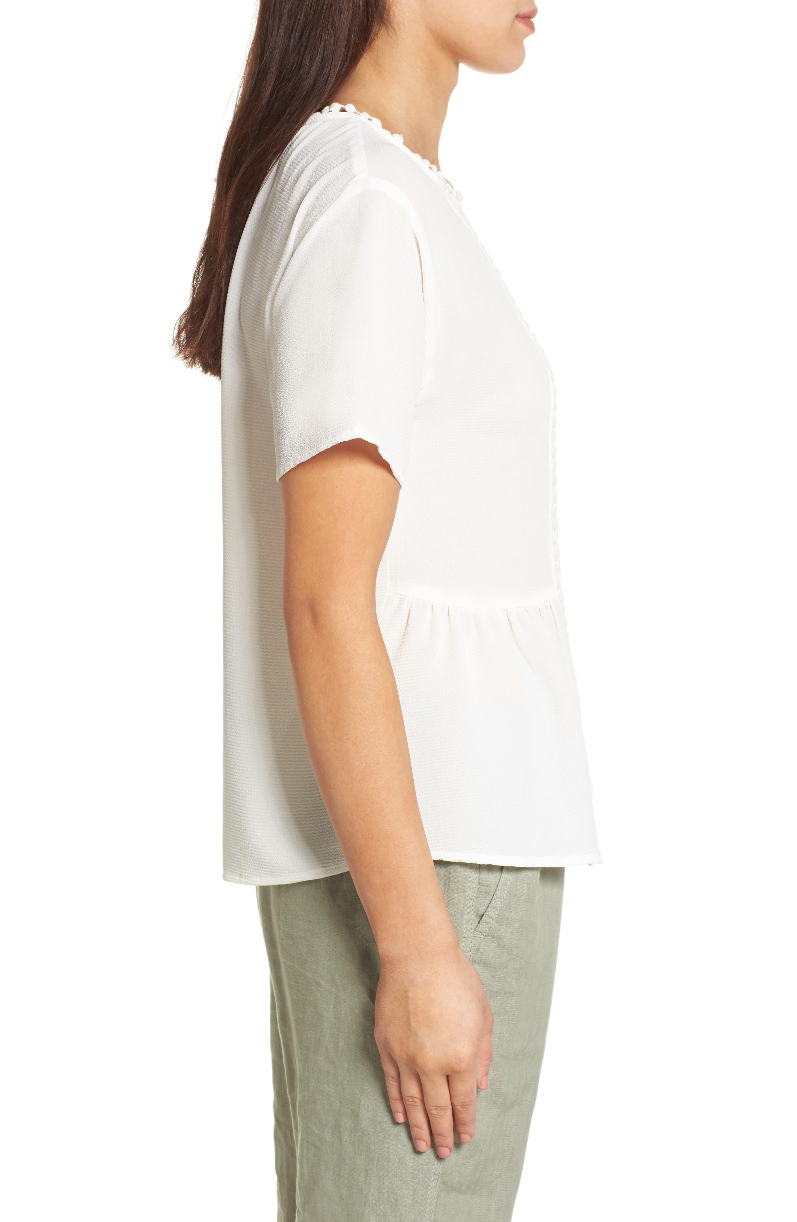 Alternate Image 3  - Bobeau Stretch Crepe Top (Regular & Petite)