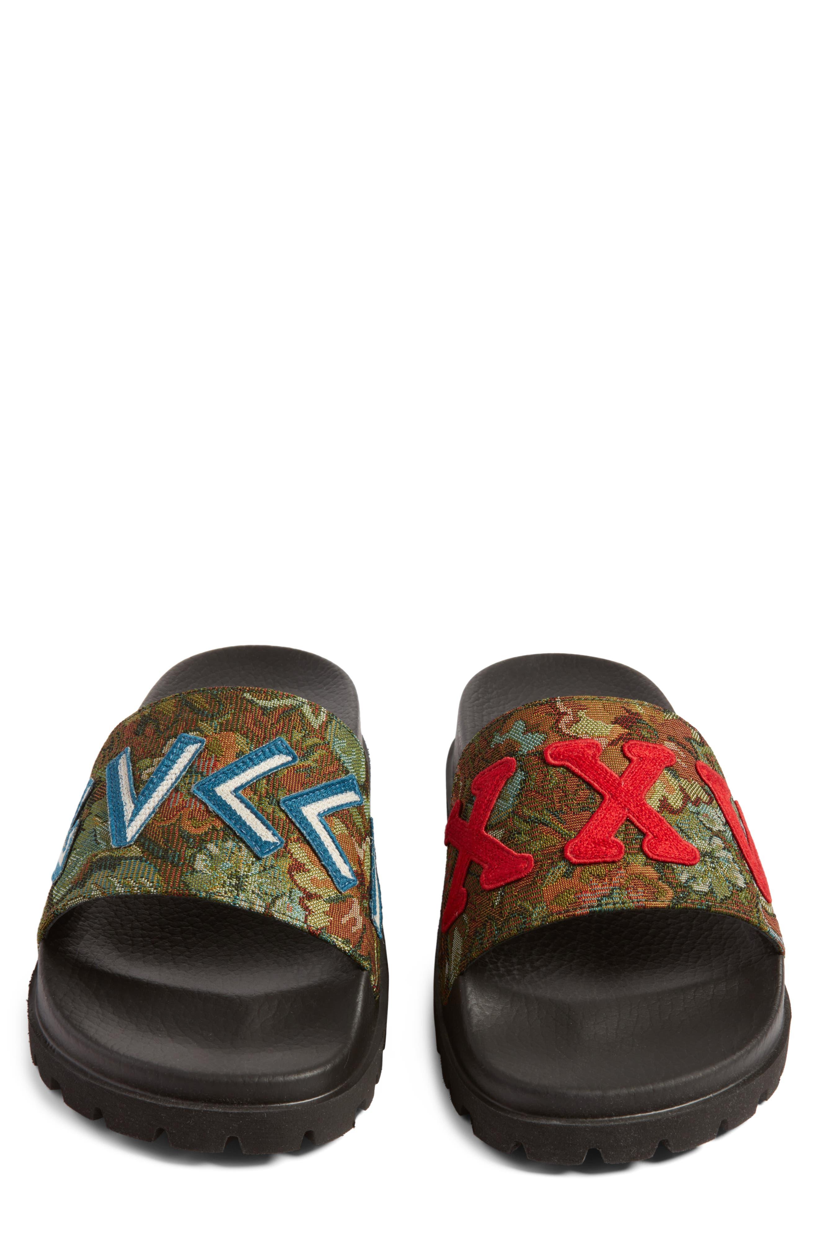 'Pursuit Treck' Slide Sandal,                             Alternate thumbnail 4, color,                             Green Multi