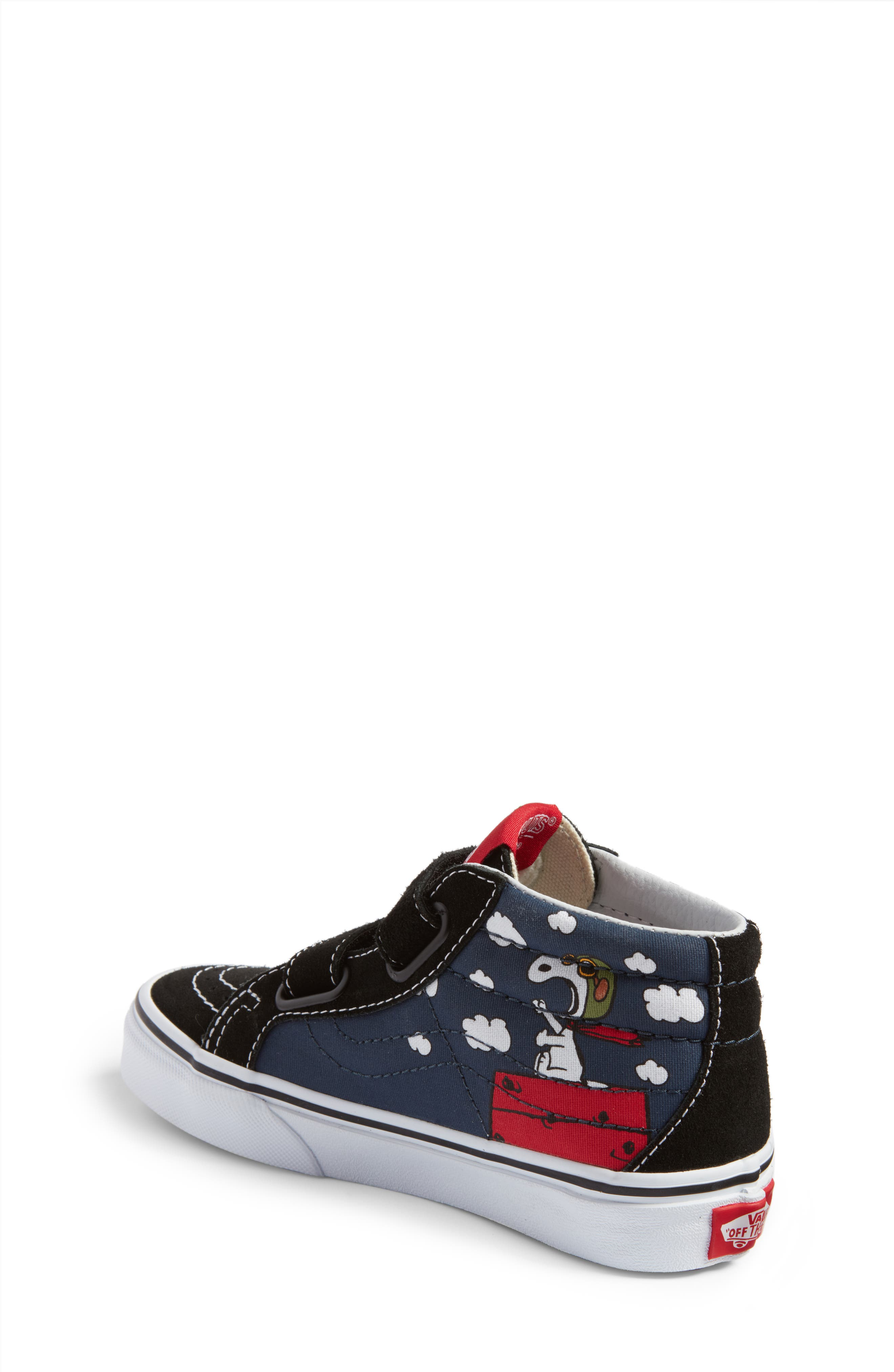 x Peanuts SK8-Mid Reissue V Sneaker,                             Alternate thumbnail 2, color,                             Flying Ace/ Blue Canvas