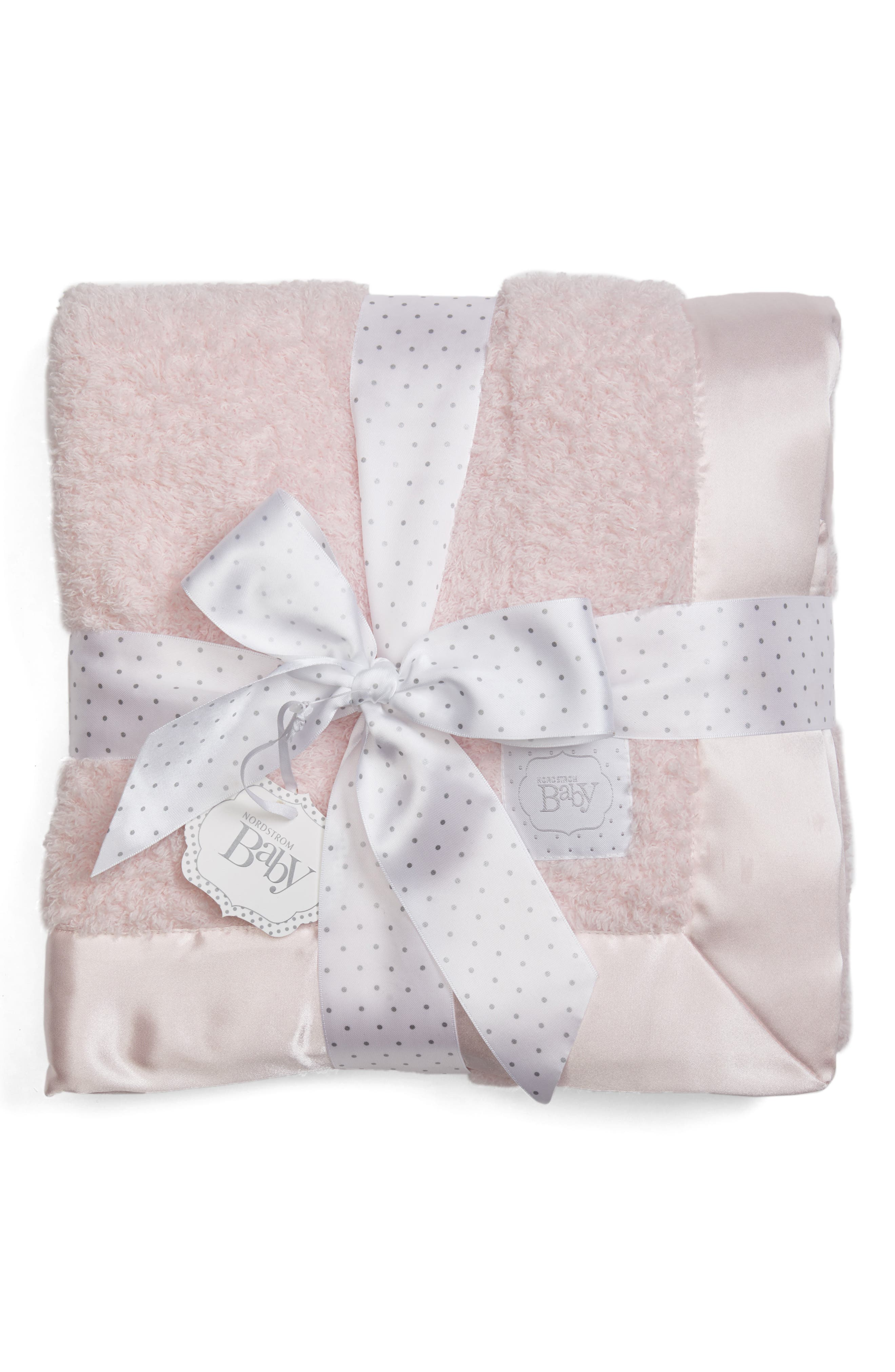 Luxe Chenille Blanket,                             Main thumbnail 1, color,                             Pink Baby