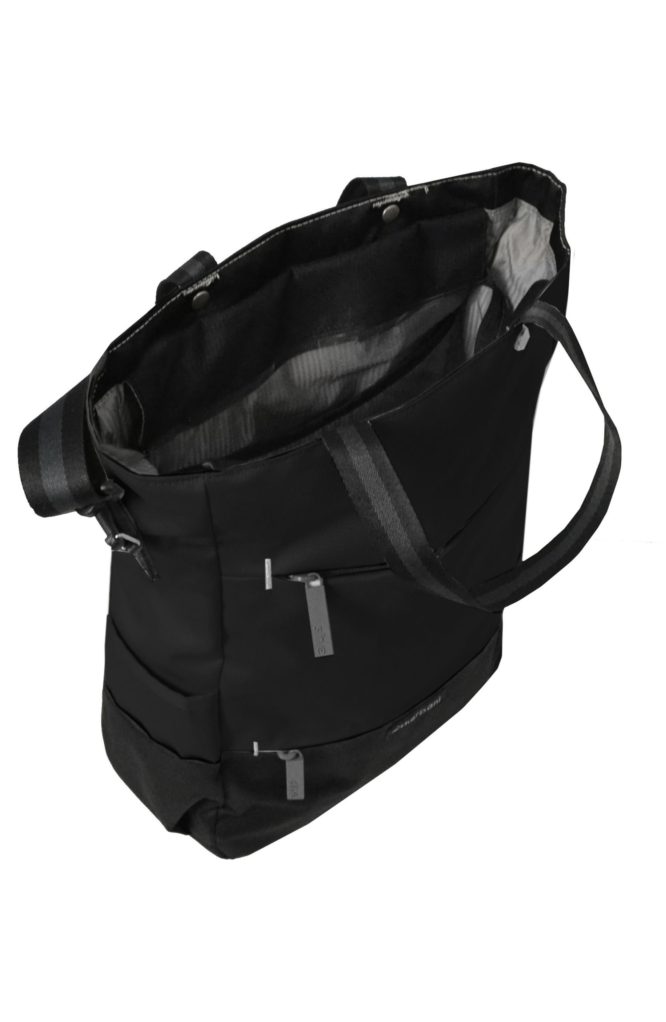 Camden Convertible Backpack,                             Alternate thumbnail 4, color,                             Raven
