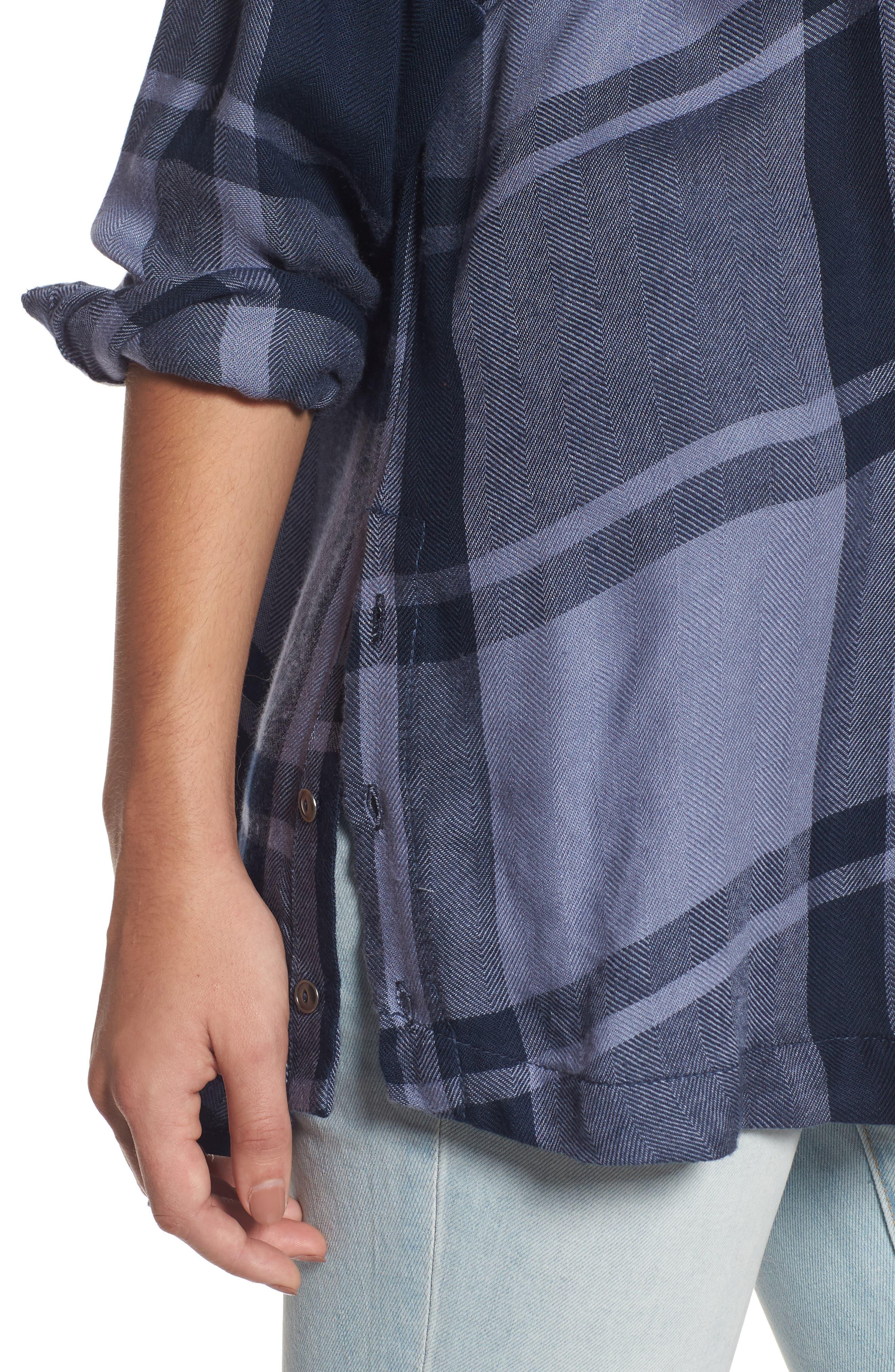 Alternate Image 4  - Free People Oversized Plaid Tunic