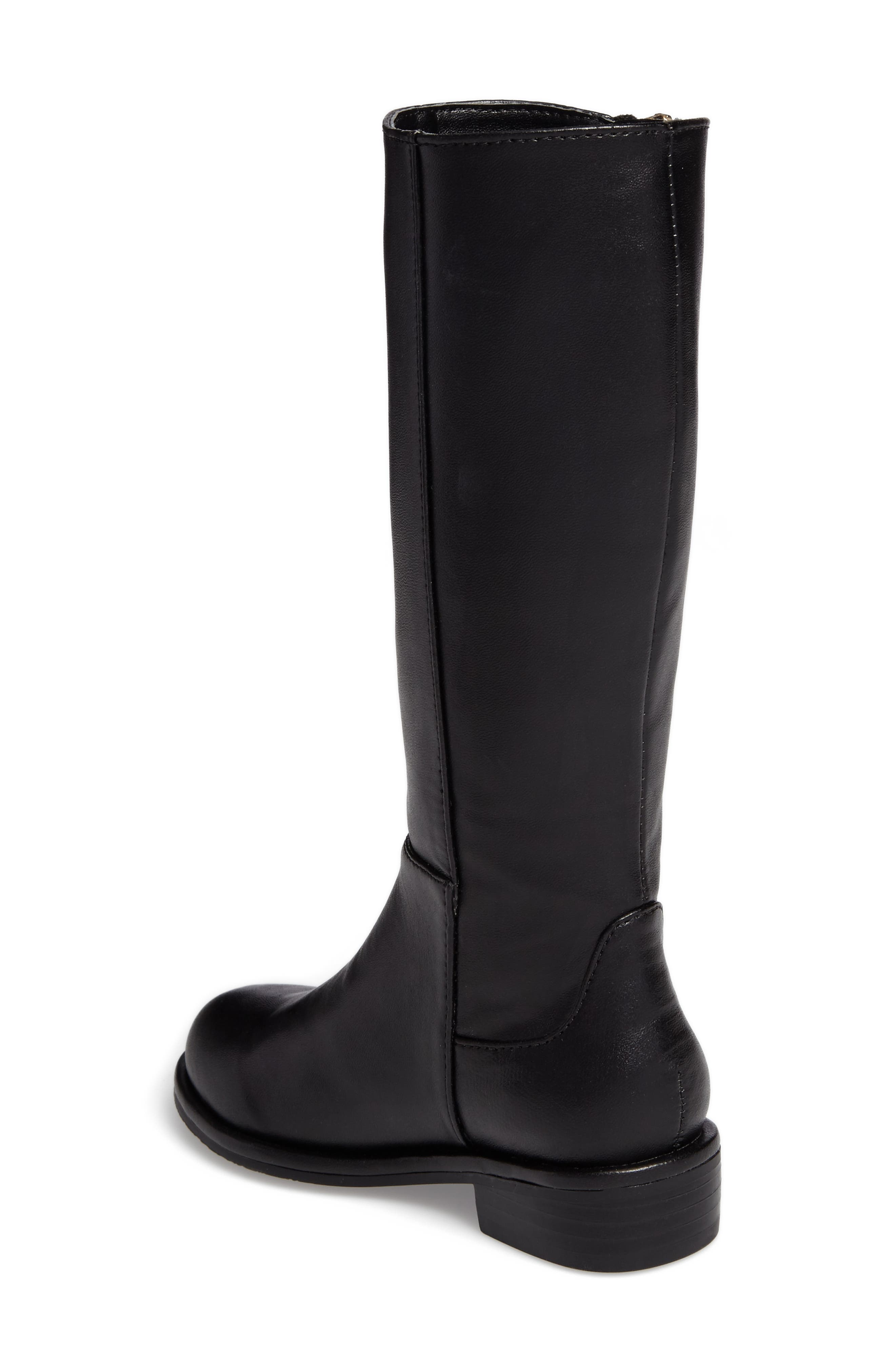 Lowland Riding Boot,                             Alternate thumbnail 2, color,                             Black Faux Leather