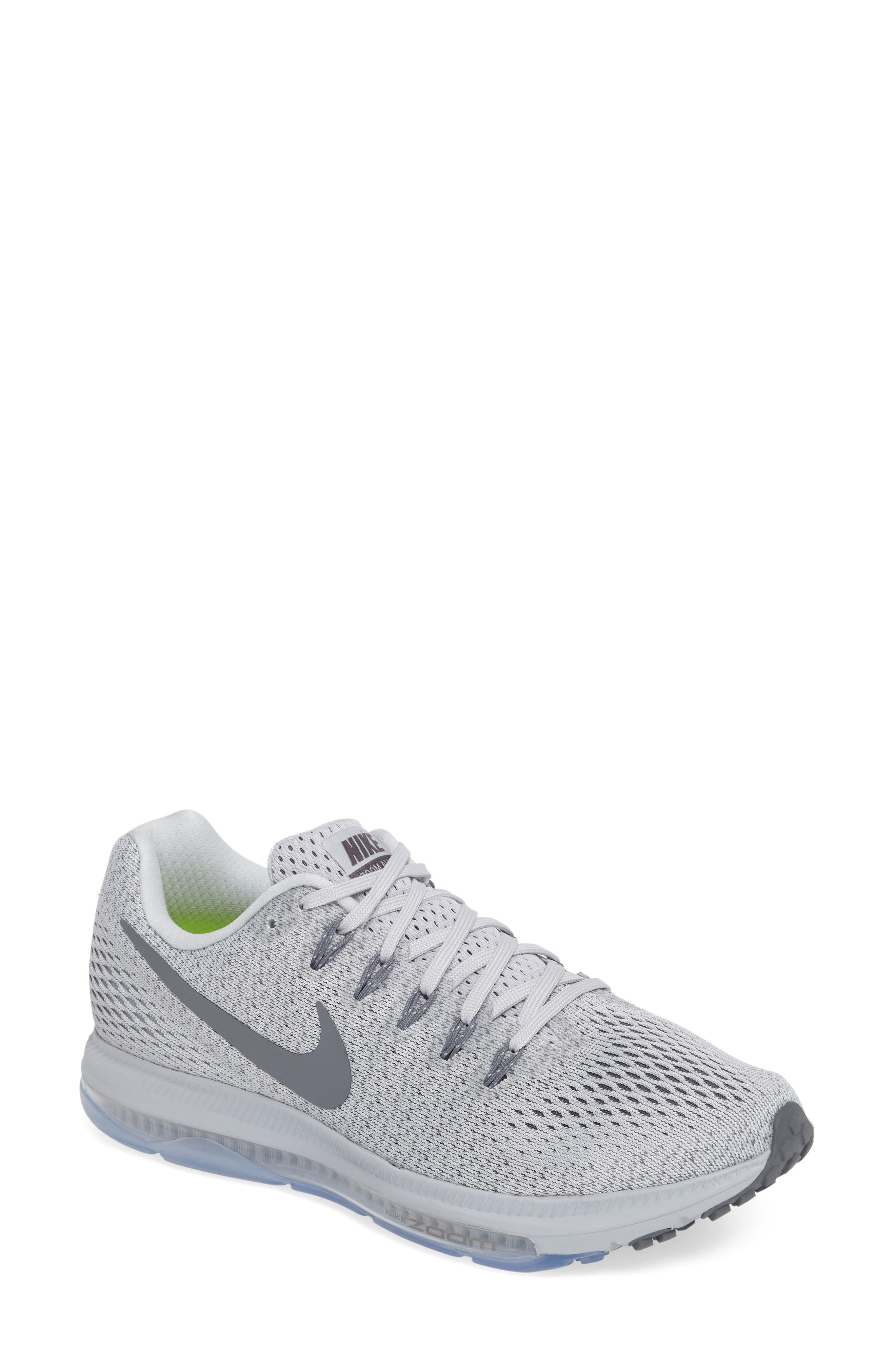 Air Zoom All Out Running Shoe,                             Main thumbnail 1, color,                             Platinum/ Cool Grey/ Wolf Grey