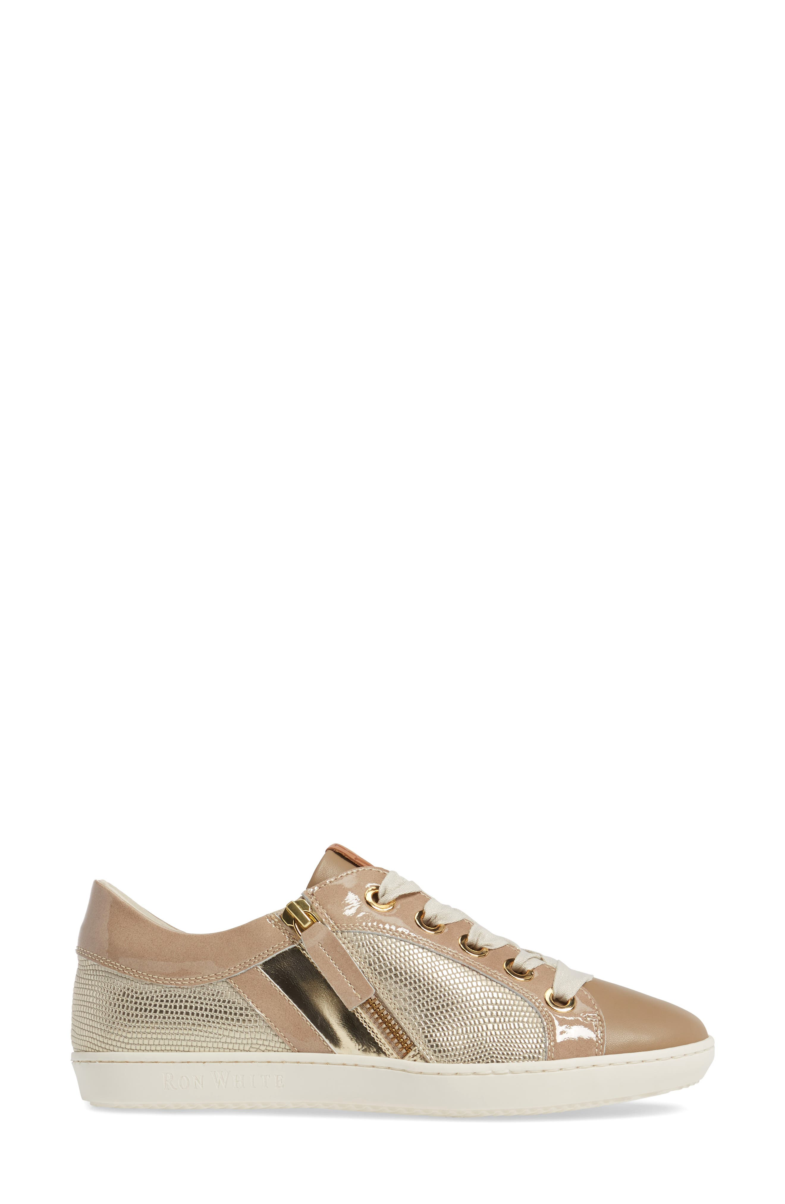 May Sneaker,                             Alternate thumbnail 3, color,                             Nude/ Platino Leather