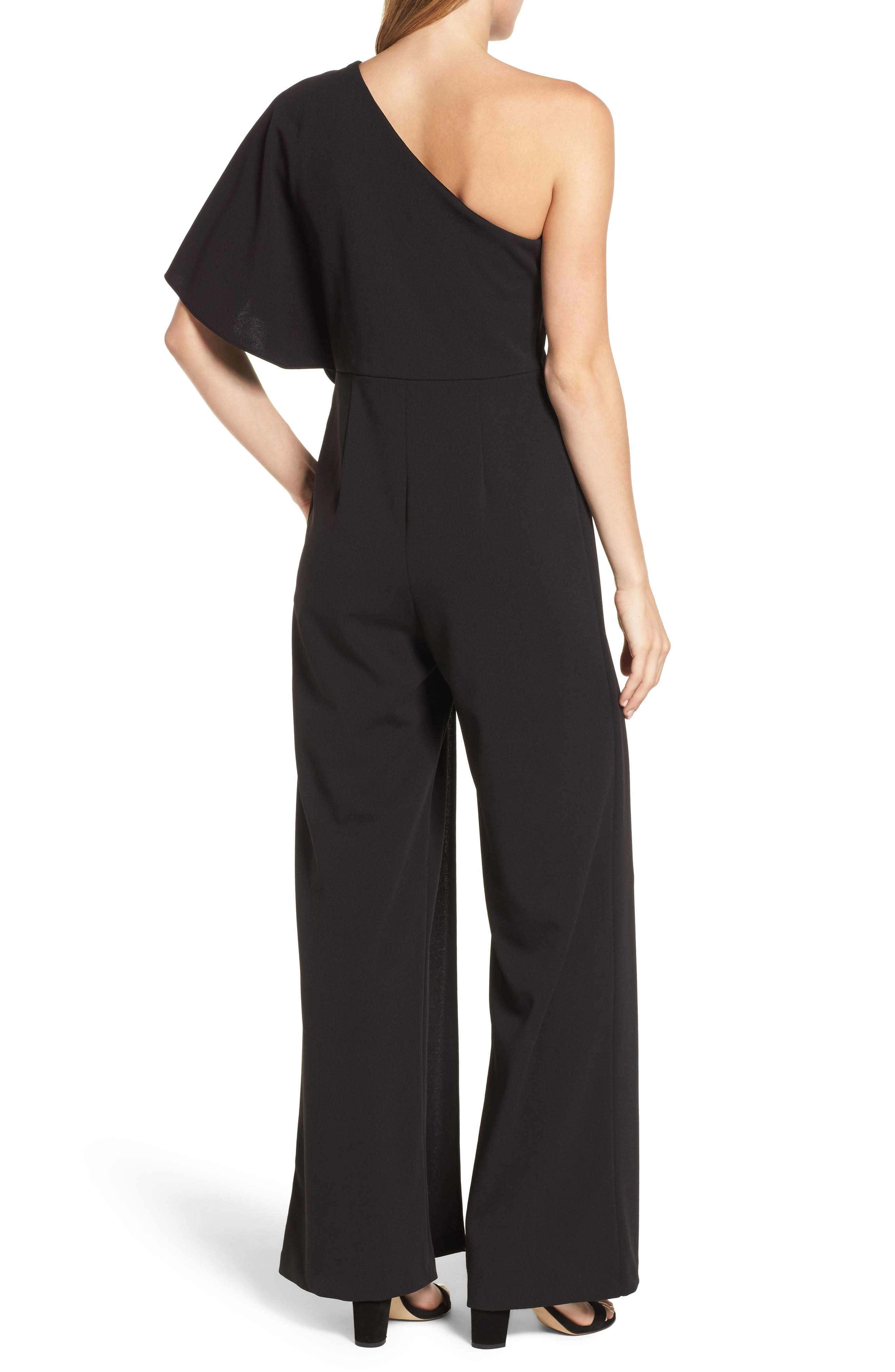 Alternate Image 2  - Adrianna Papell One-Shoulder Jumpsuit