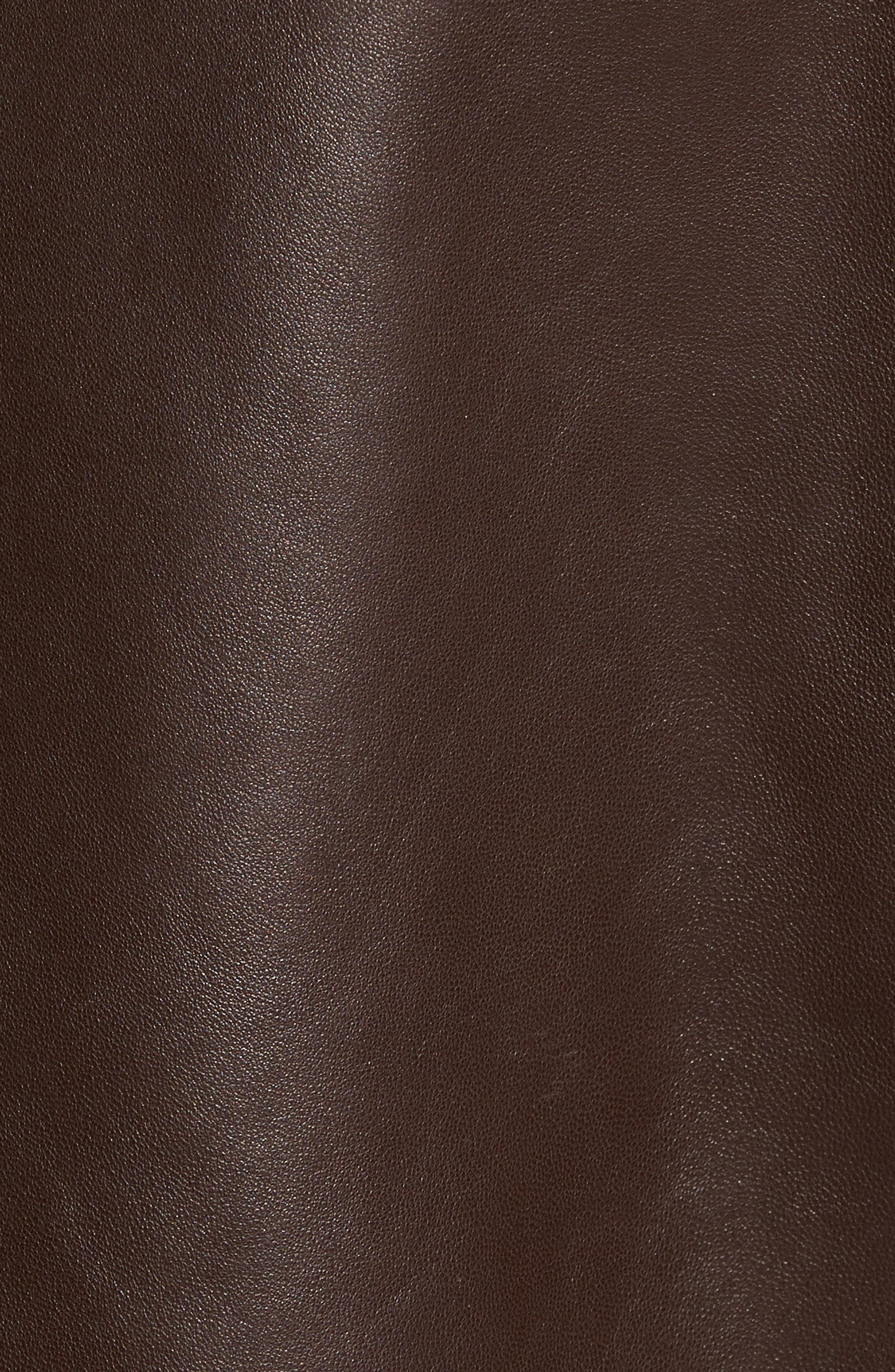 Alternate Image 5  - Cole Haan Lambskin Leather Moto Jacket