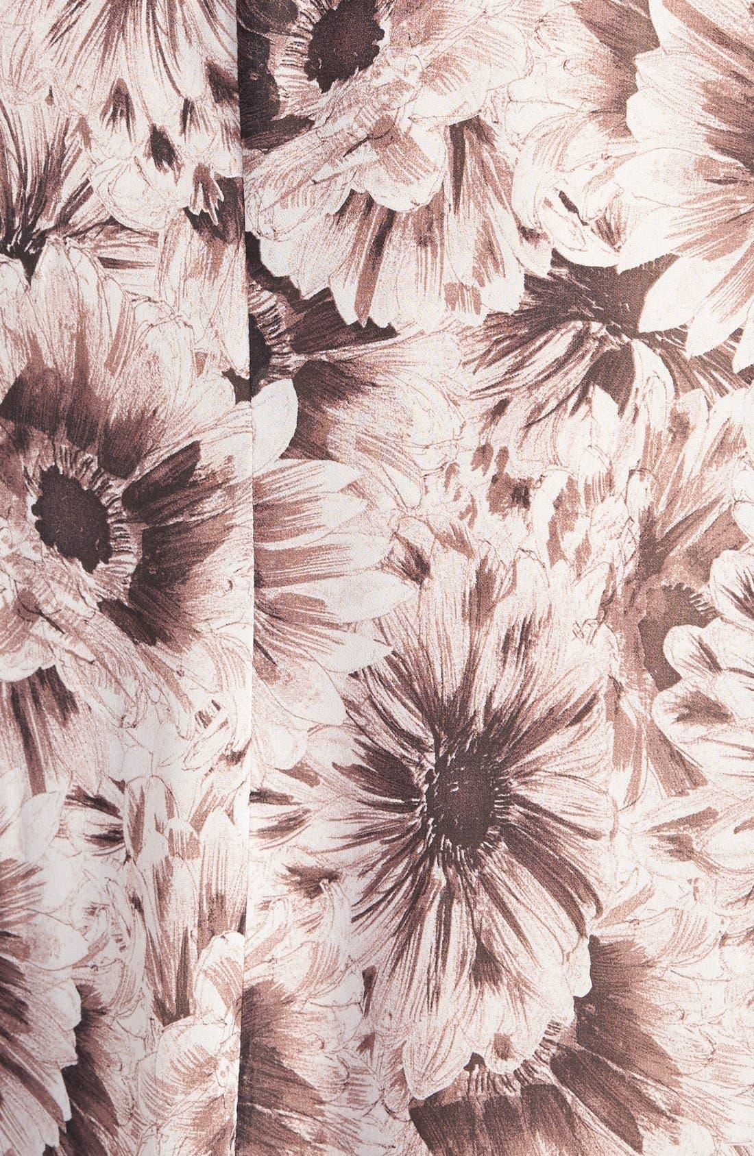 ASTR Lace Sleeve Shift Dress,                             Alternate thumbnail 3, color,                             Plum/ Black