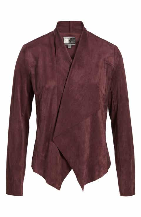 Women's Red Leather & Faux-Coats | Nordstrom