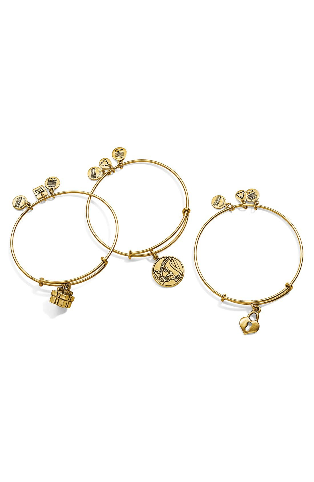 Alternate Image 2  - Alex and Ani 'Because I Love You' Expandable Wire Bangle
